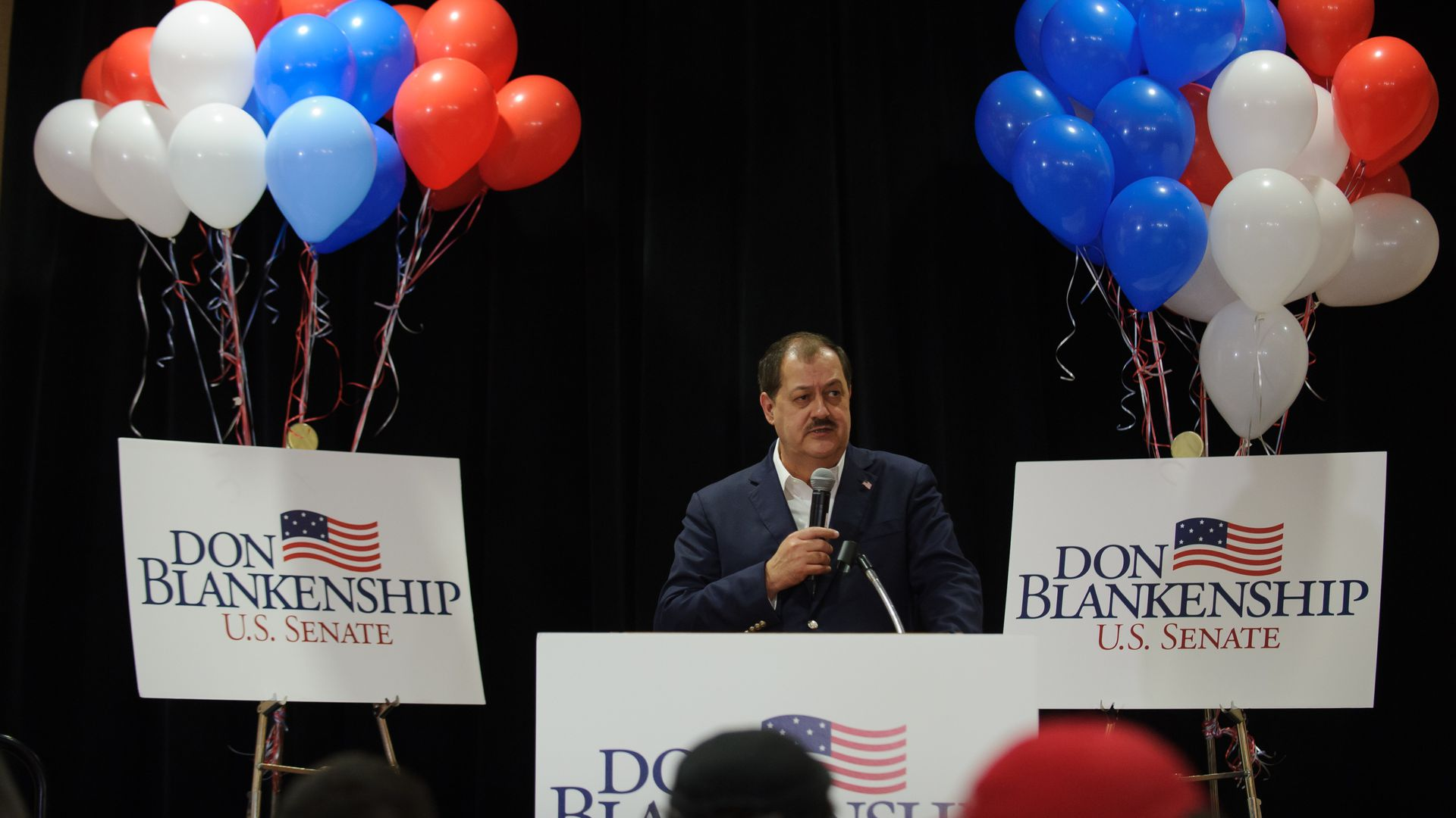 Don Blankenship addressing supporters following his election loss earlier this month.