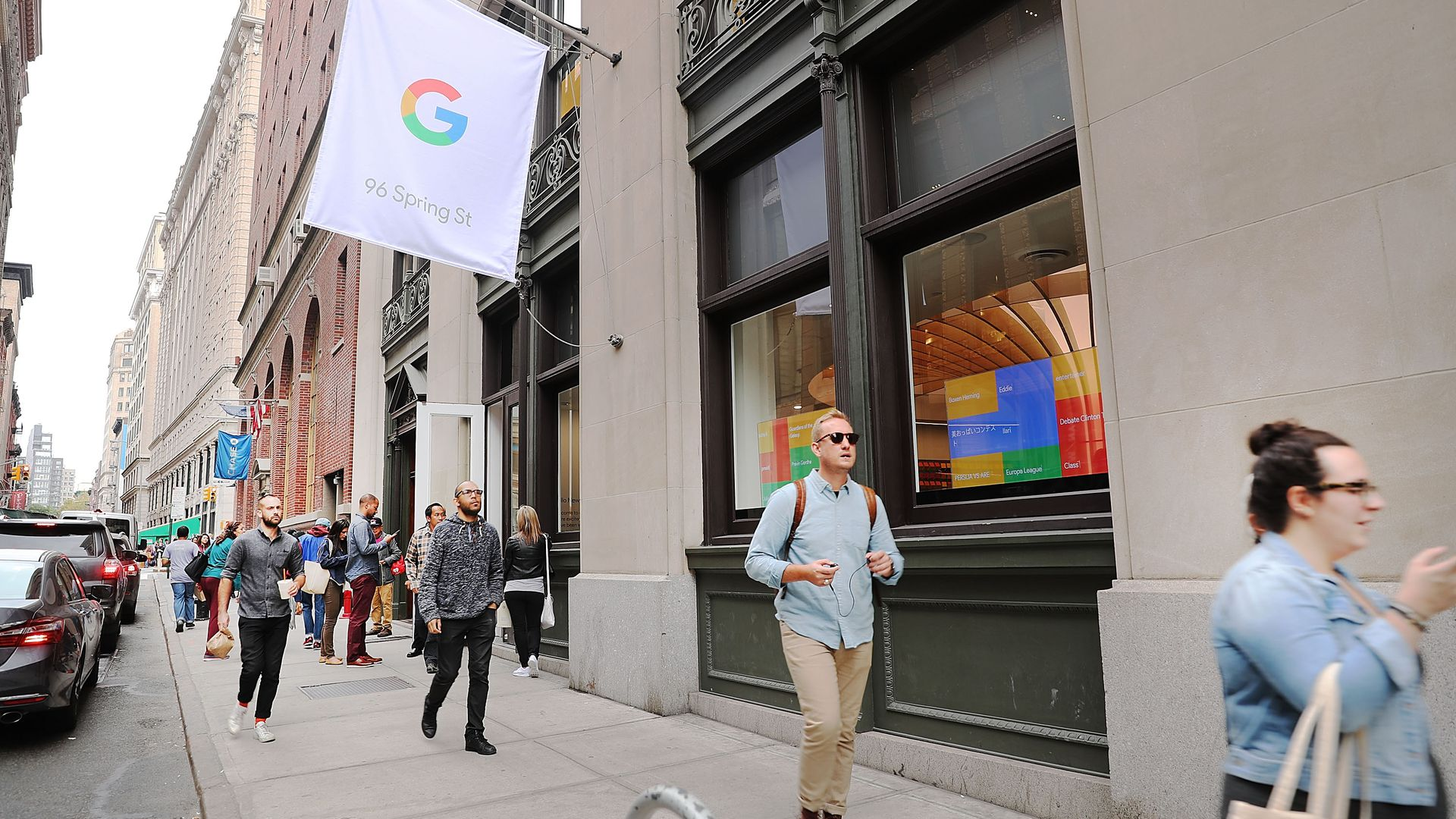 Google pop-up shop in the SoHo, New York City. Photo: Spencer Platt/Getty Images