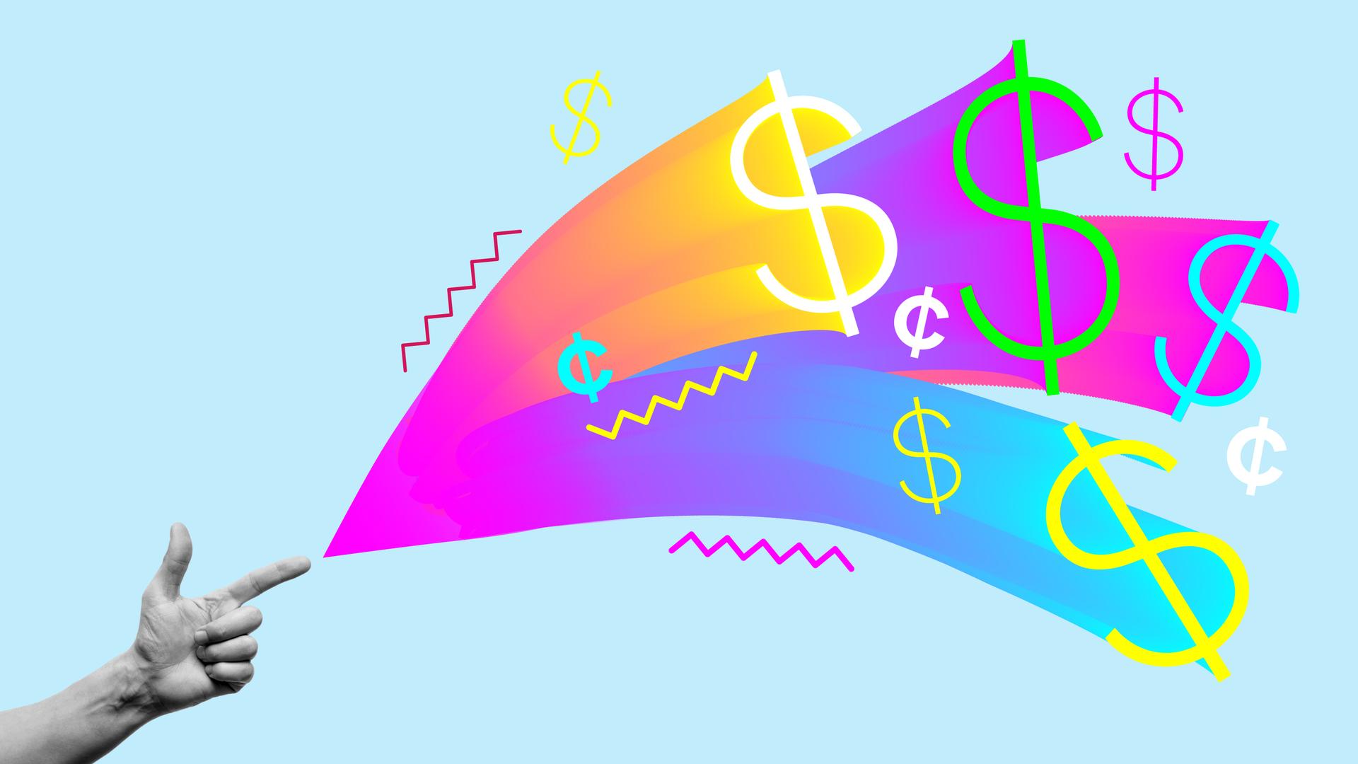 Illustration of venture capital funding