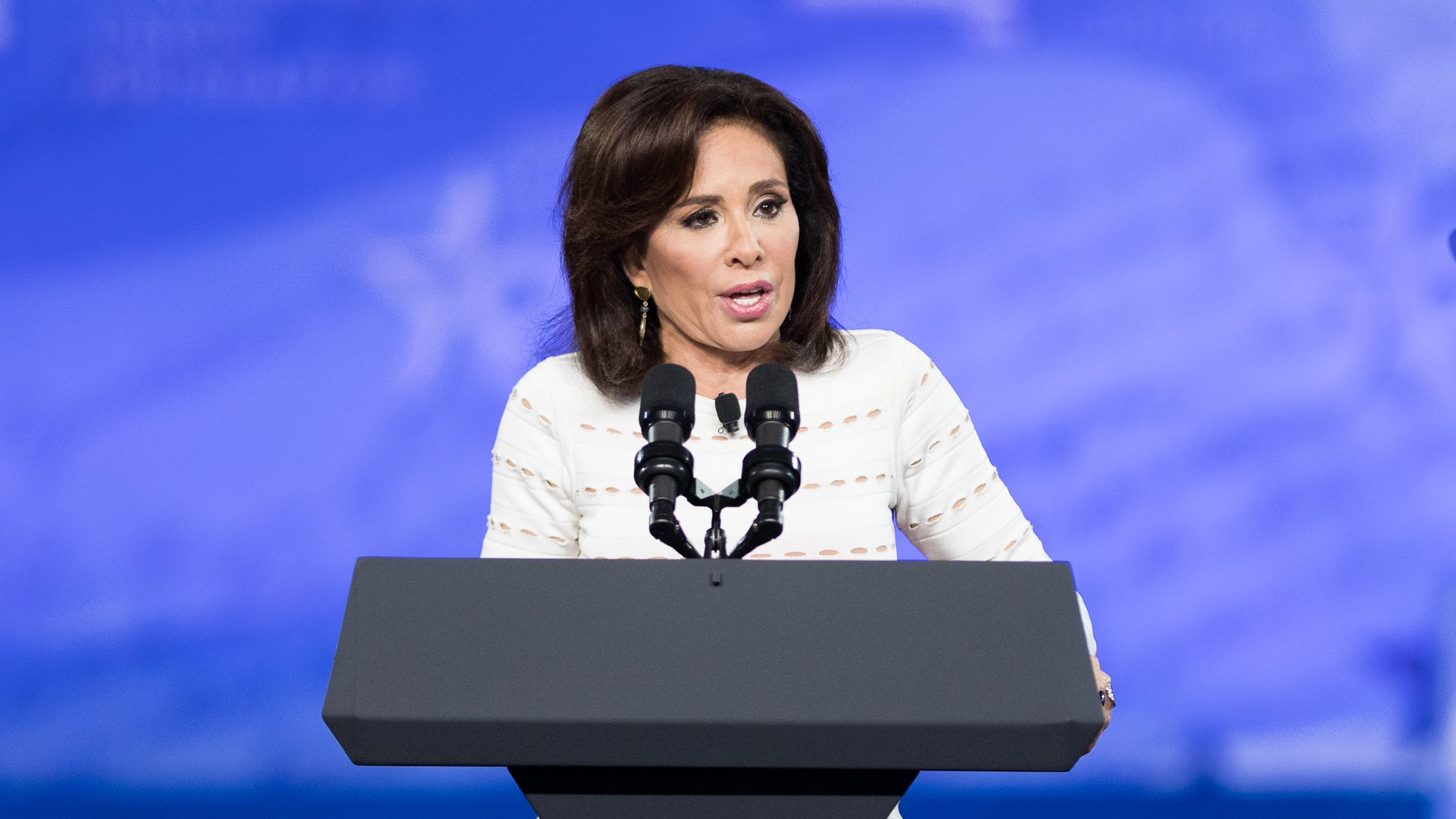 Jeanine Pirro did not address being off air during her return to her Fox News show.