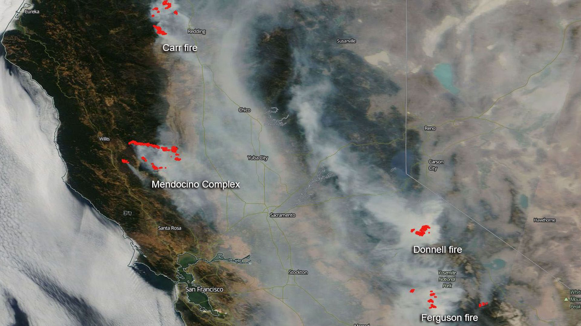 California wildfires are filling state with hazardous smoke axios california wildfires smother state in hazardous smoke satellite freerunsca Gallery