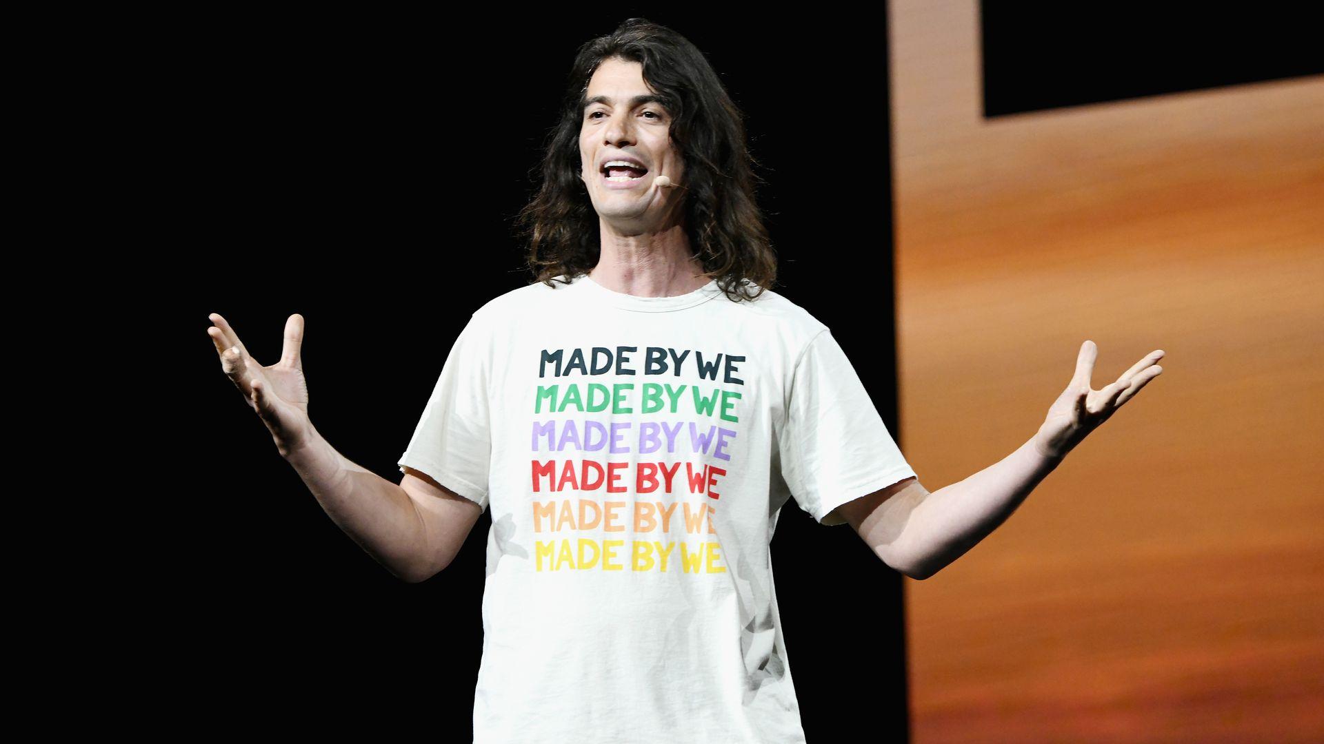 WeWork founder and CEO Adam Neumann