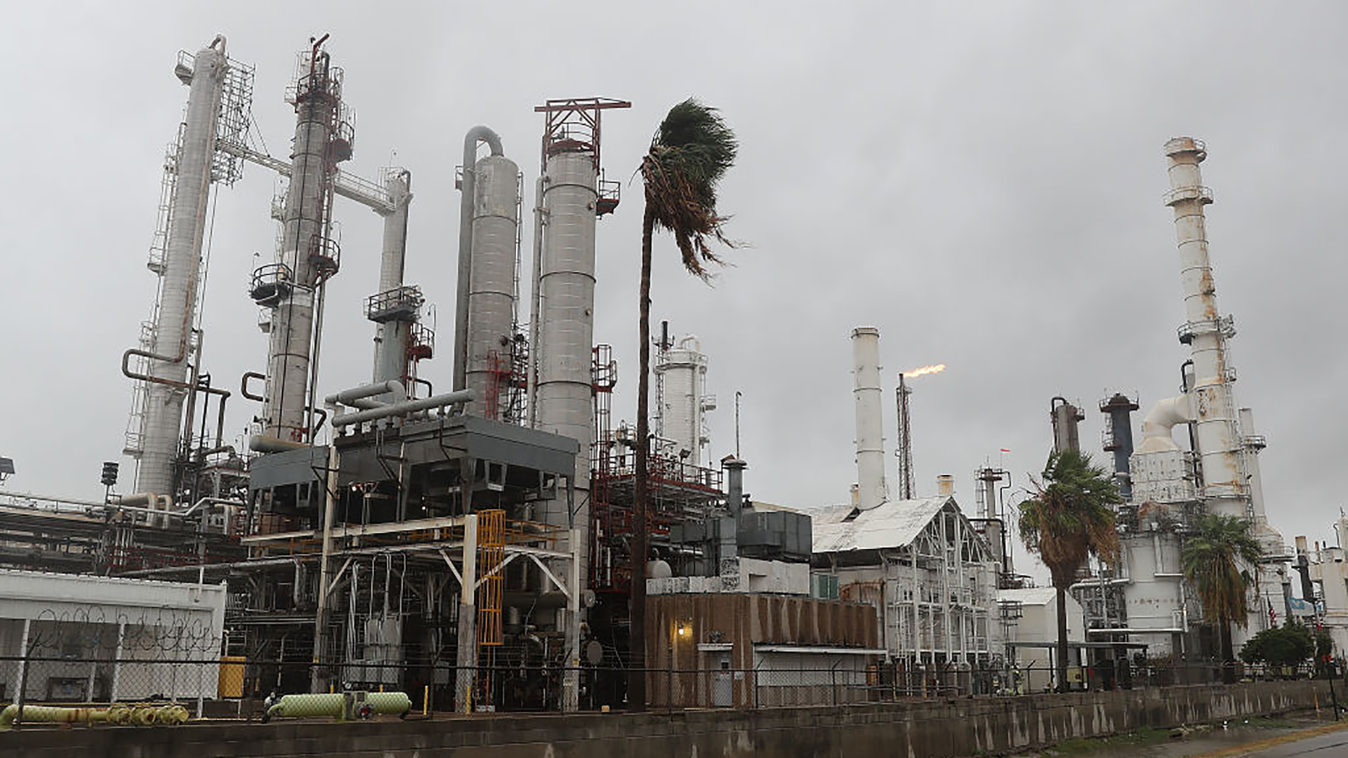 An oil refinery in Corpus Christi, Texas