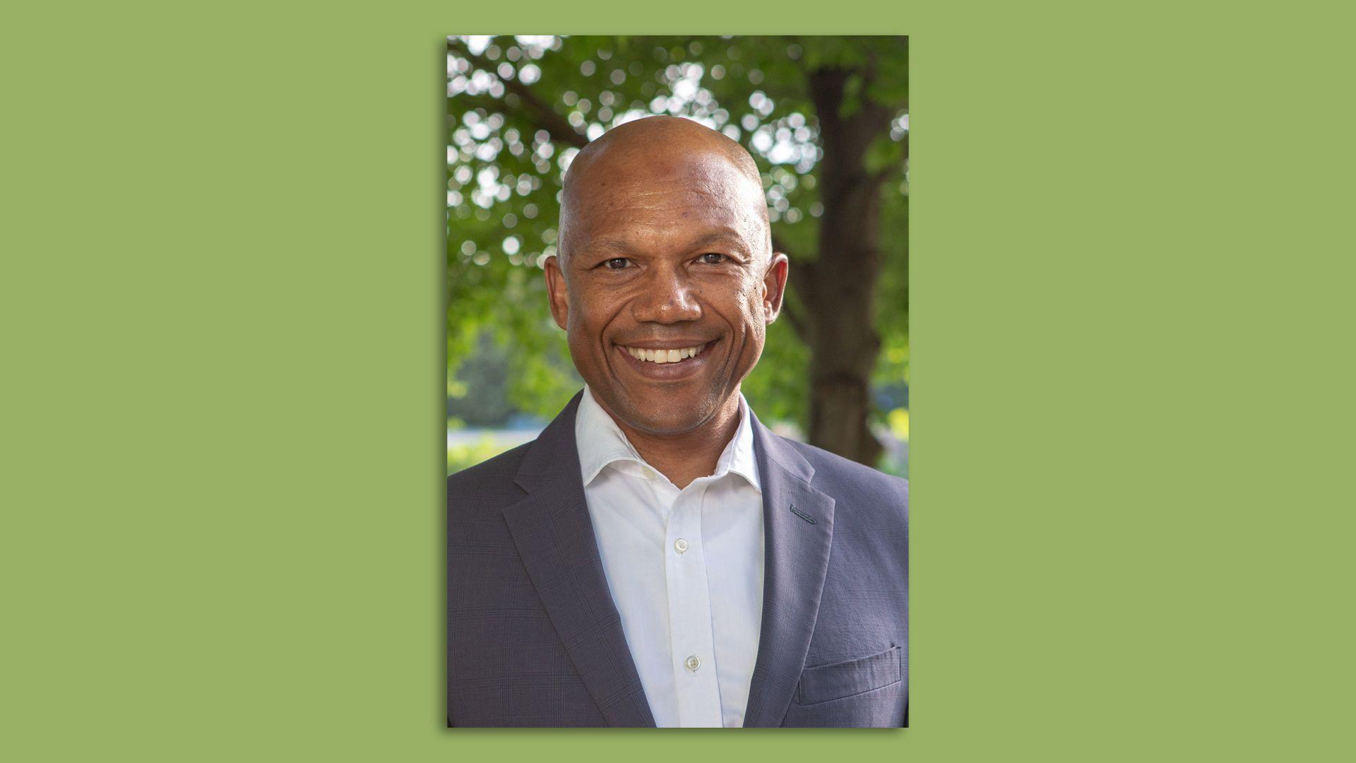 A headshot of Iowa Democratic Party Chair Ross Wilburn.