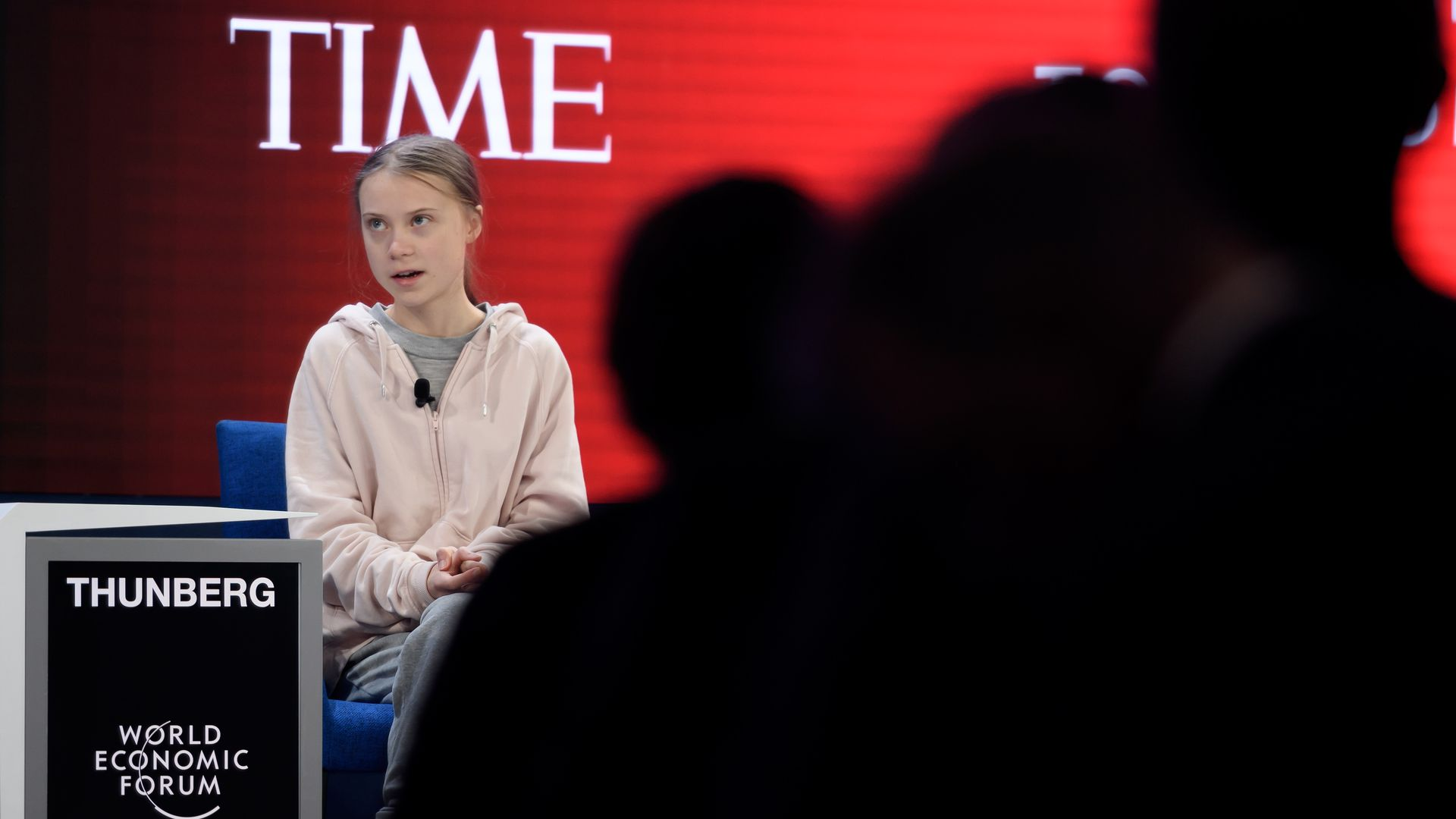 """""""I know you don't want to talk about this"""": Greta Thunberg warns Davos about climate risks"""