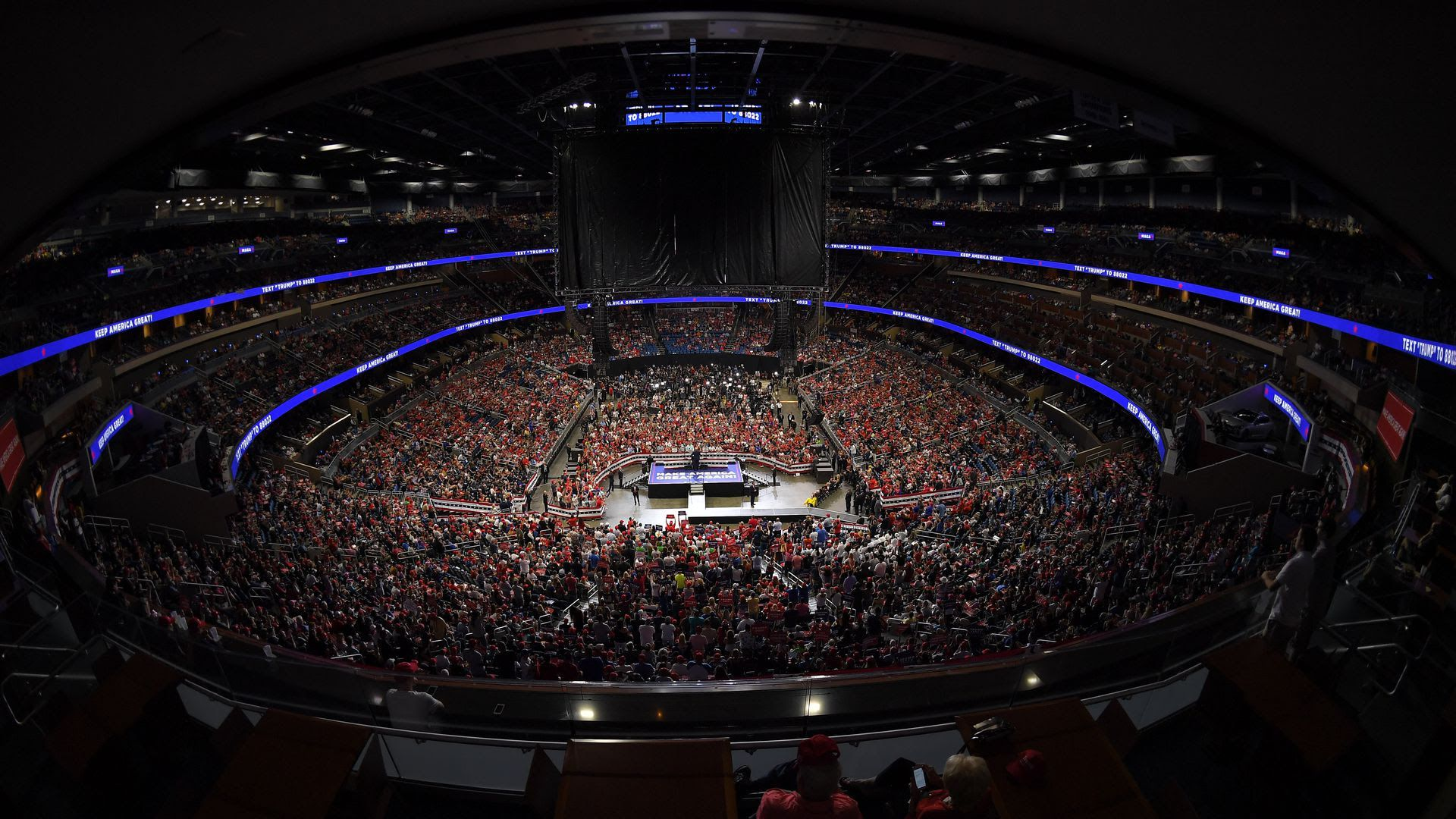 Trump speaks at the Amway Center in Orlando. (Photo: Mandel Ngan/AFP/Getty Images)