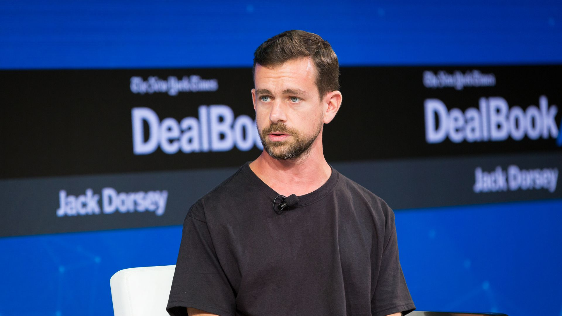 Twitter CEO Jack Dorsey at a New York Times conference