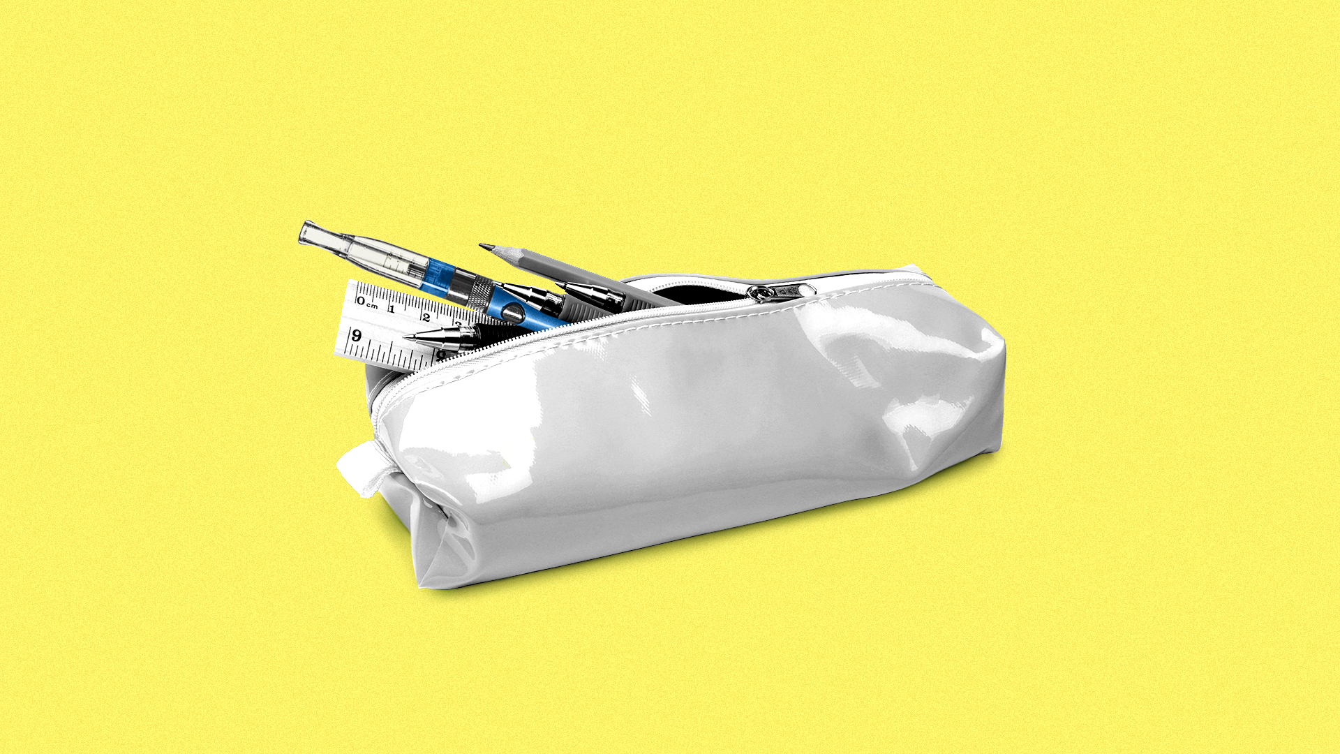 Illustration of pencil case holding tobacco products