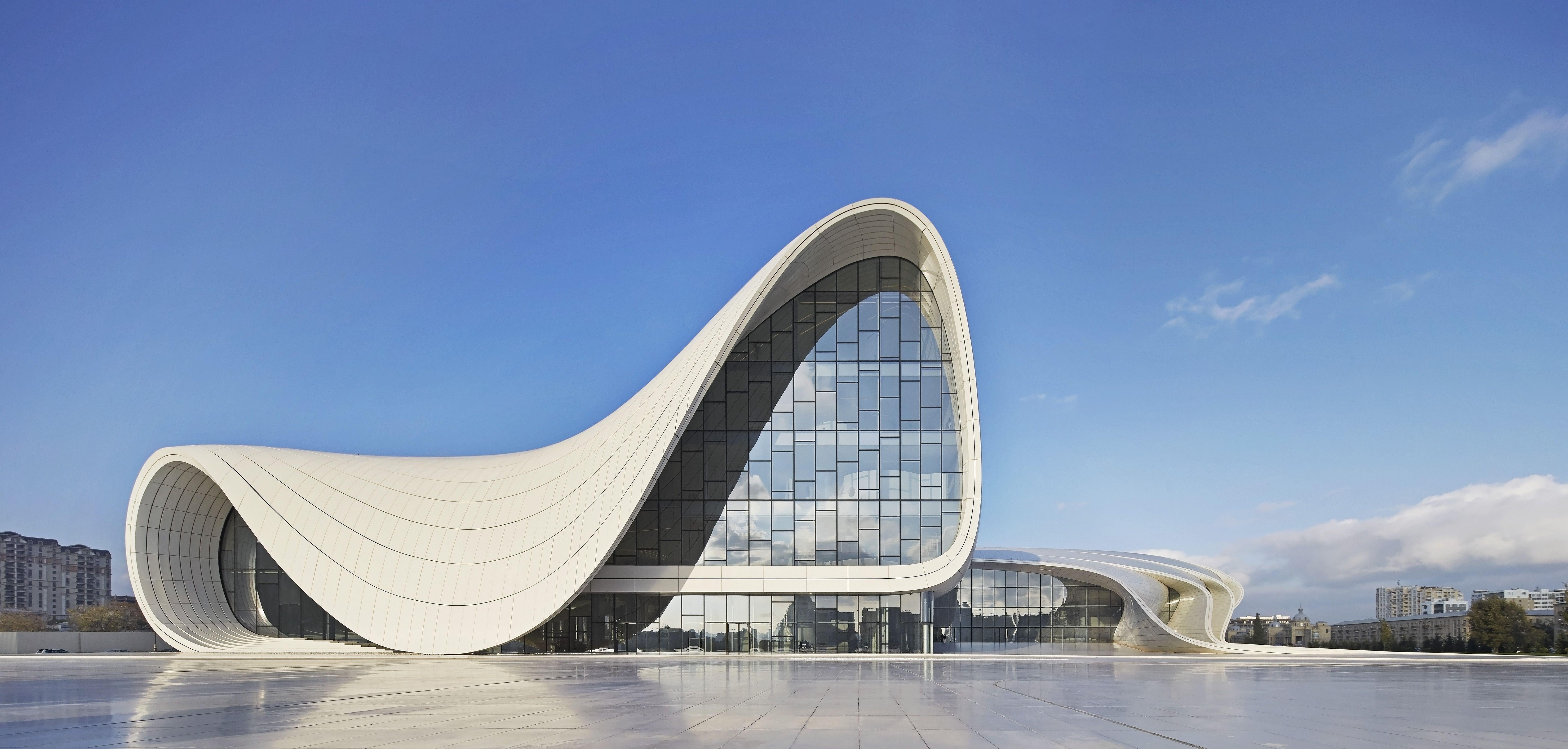 Heydar Alijev Cultural Centre, Baku, Azerbaijan. Architect: Zaha Hadid Architects, 2013