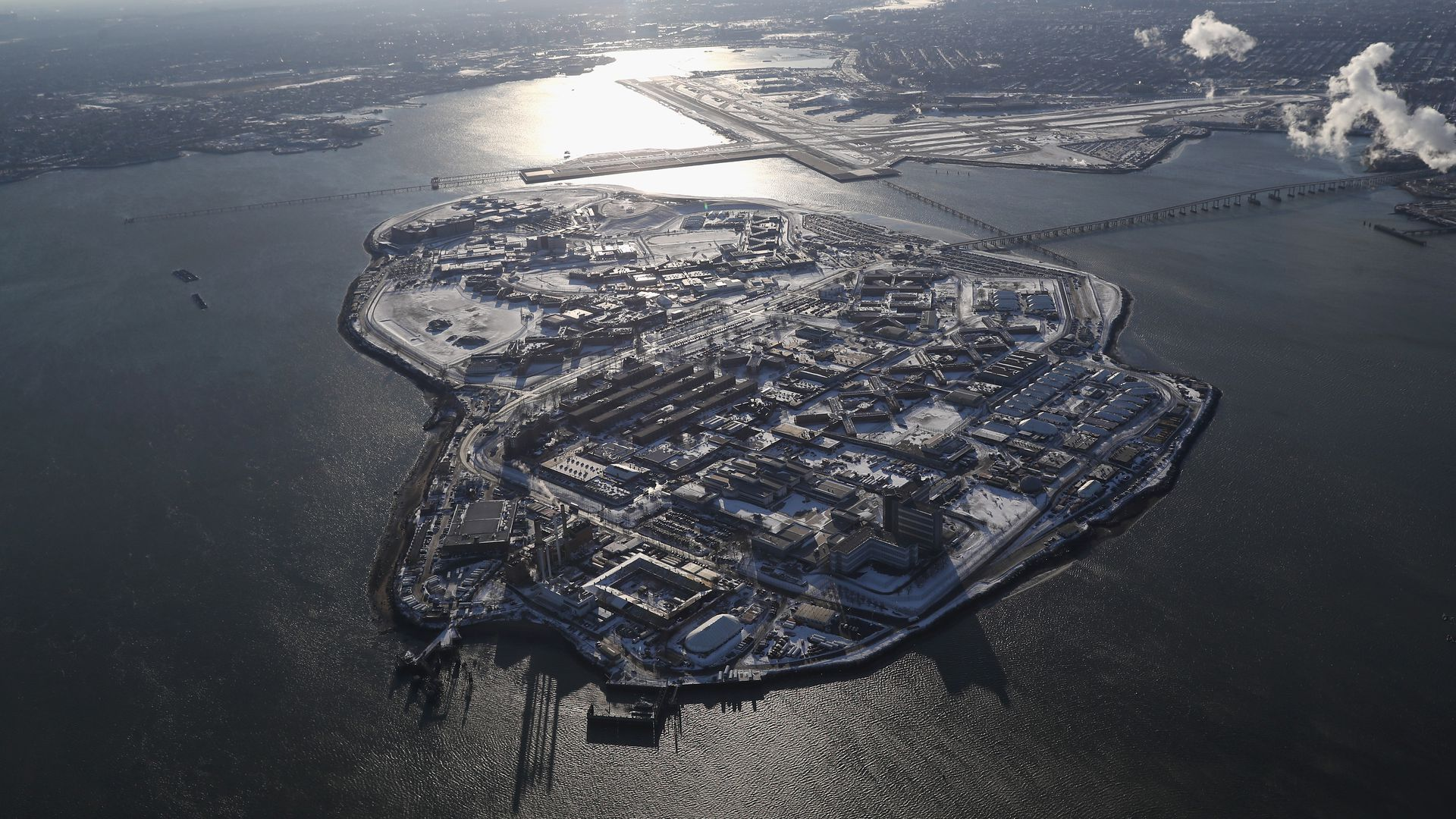 A view of Rikers Island.