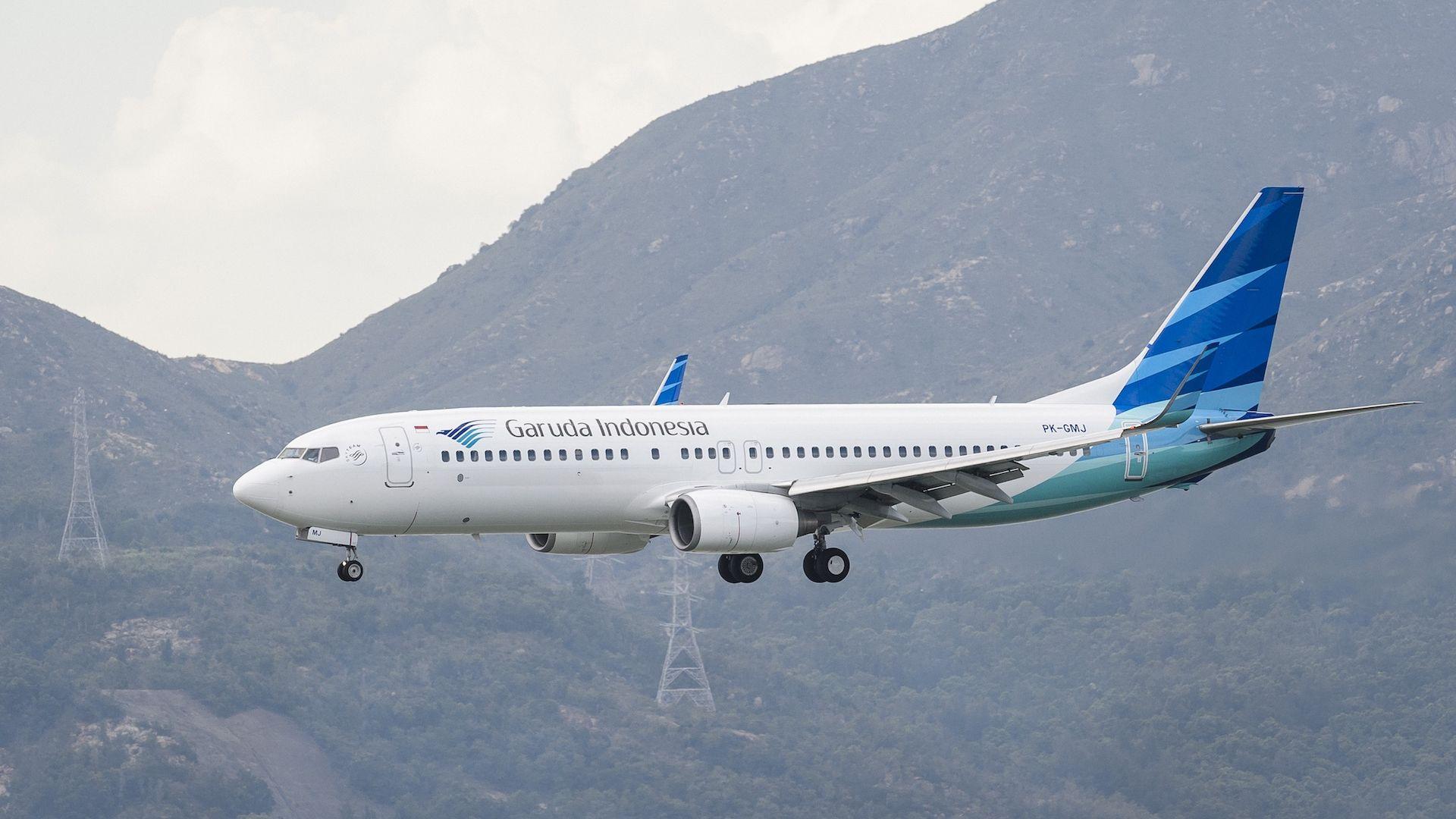 A Garuda Indonesia Boeing 737-800.