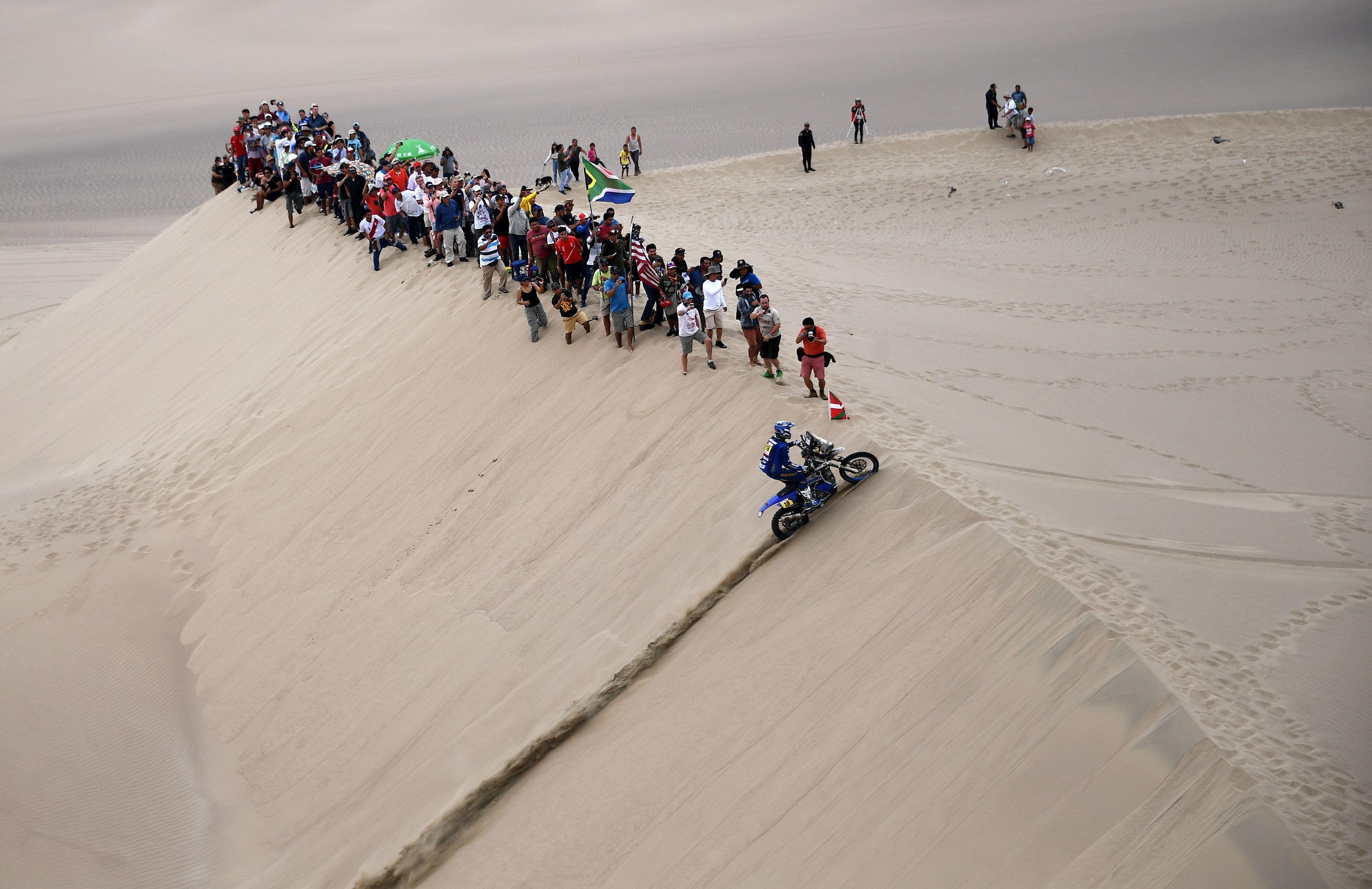 Spectators during the Dakar Rally