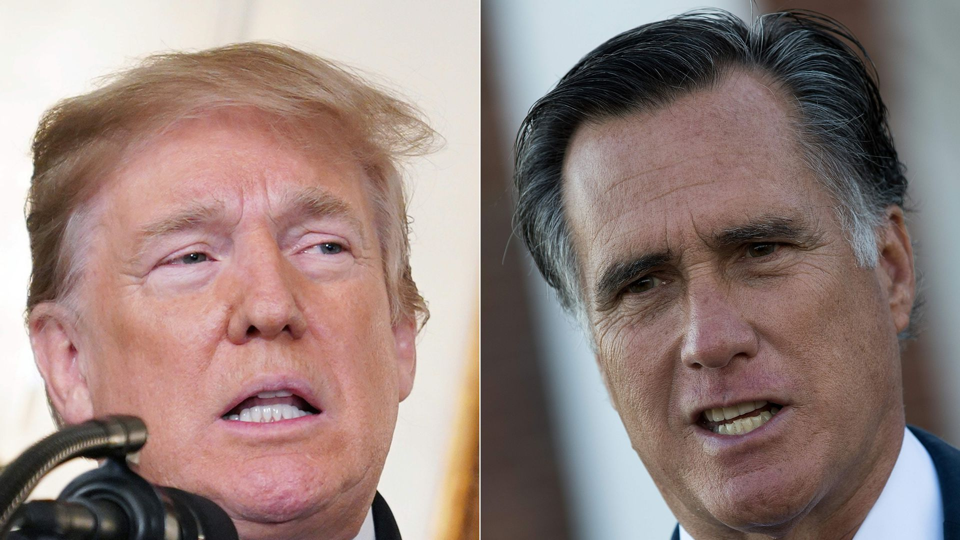 "Trump falsely accuses GOP Sen. Mitt Romney of being a ""Democrat secret asset"""