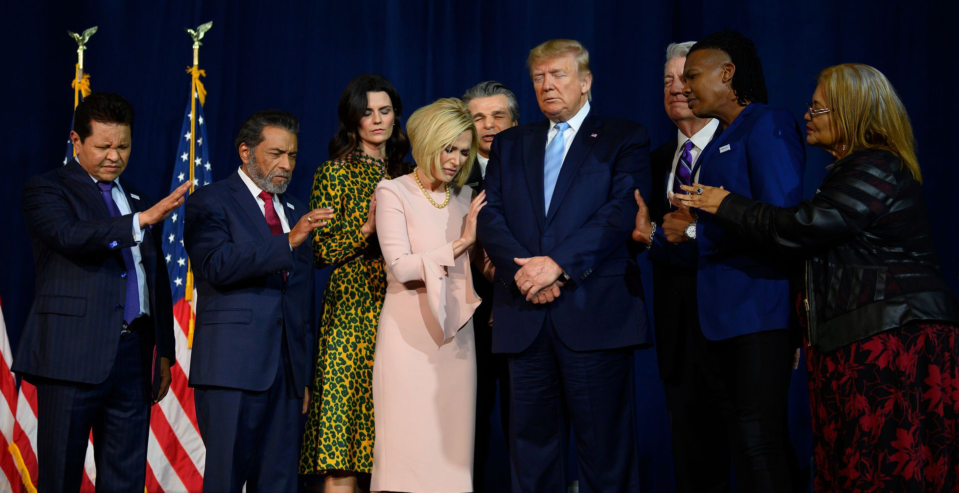 Trump touts record at megachurch event to boost evangelical following
