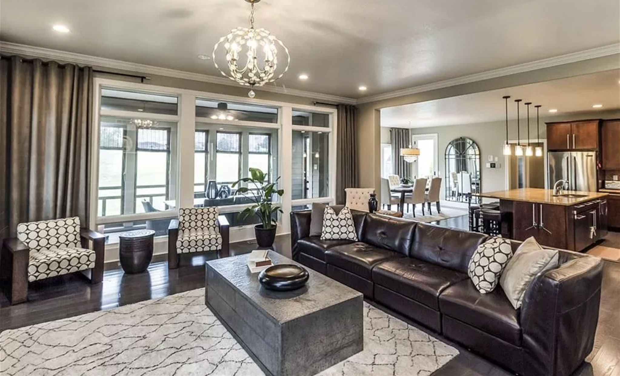 The living room of a Pleasant Hill home up for sale.