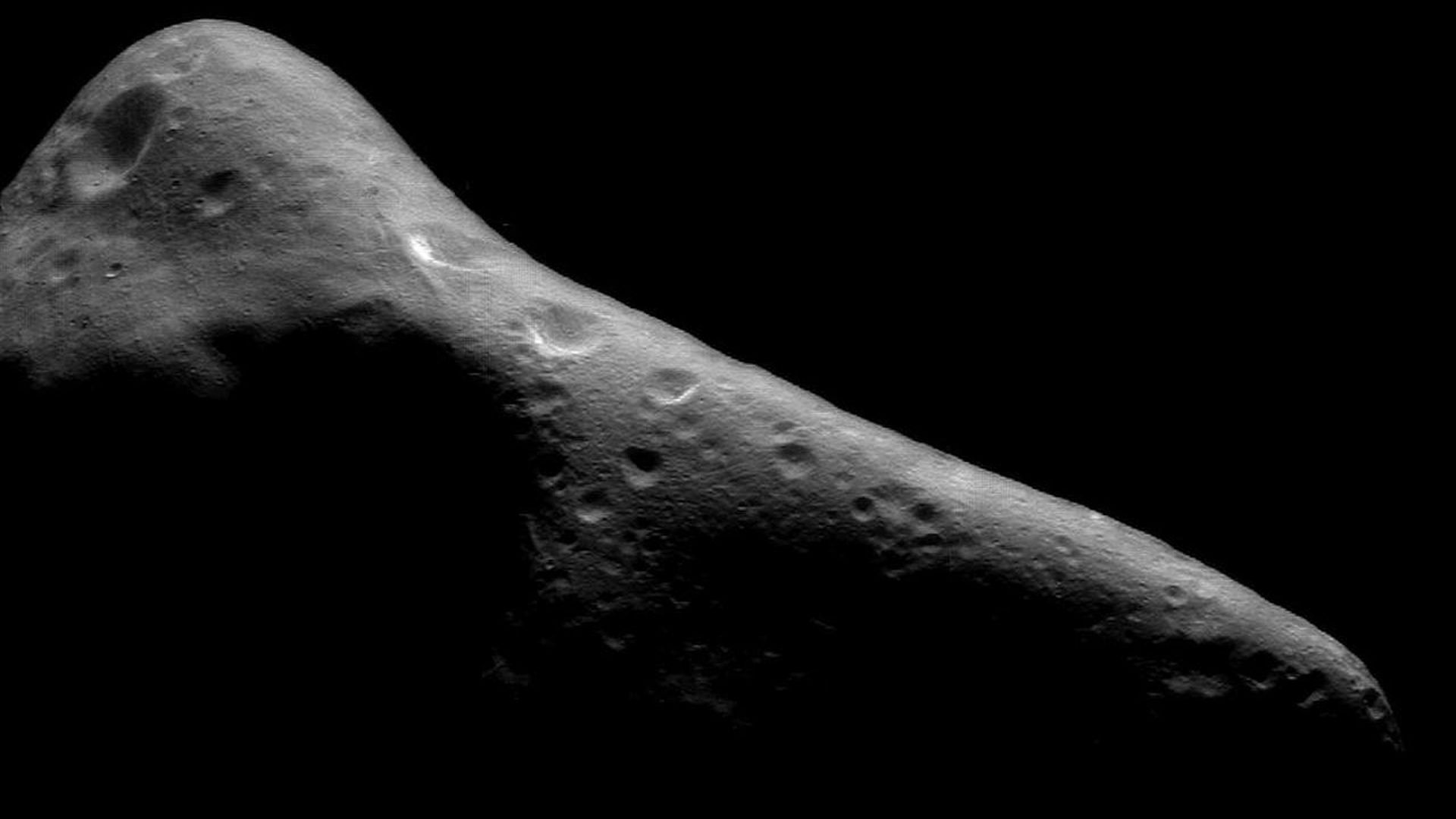 An asteroid seen in deep space
