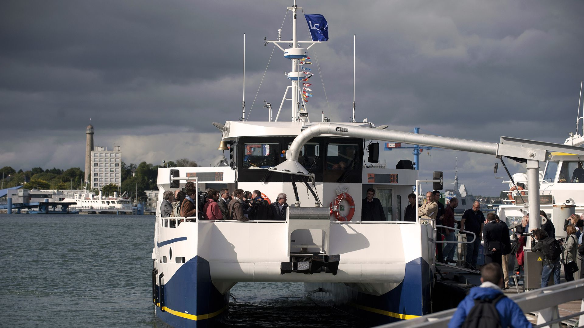 An electric ferry in France