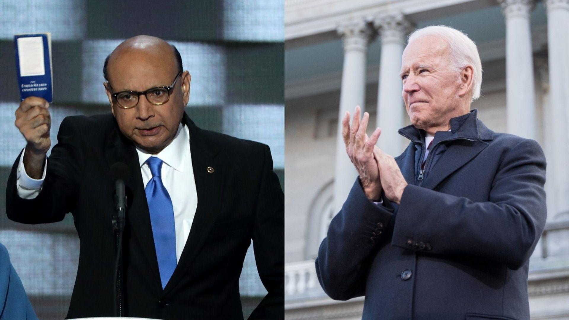 Gold Star father Khizr Khan endorses Joe Biden