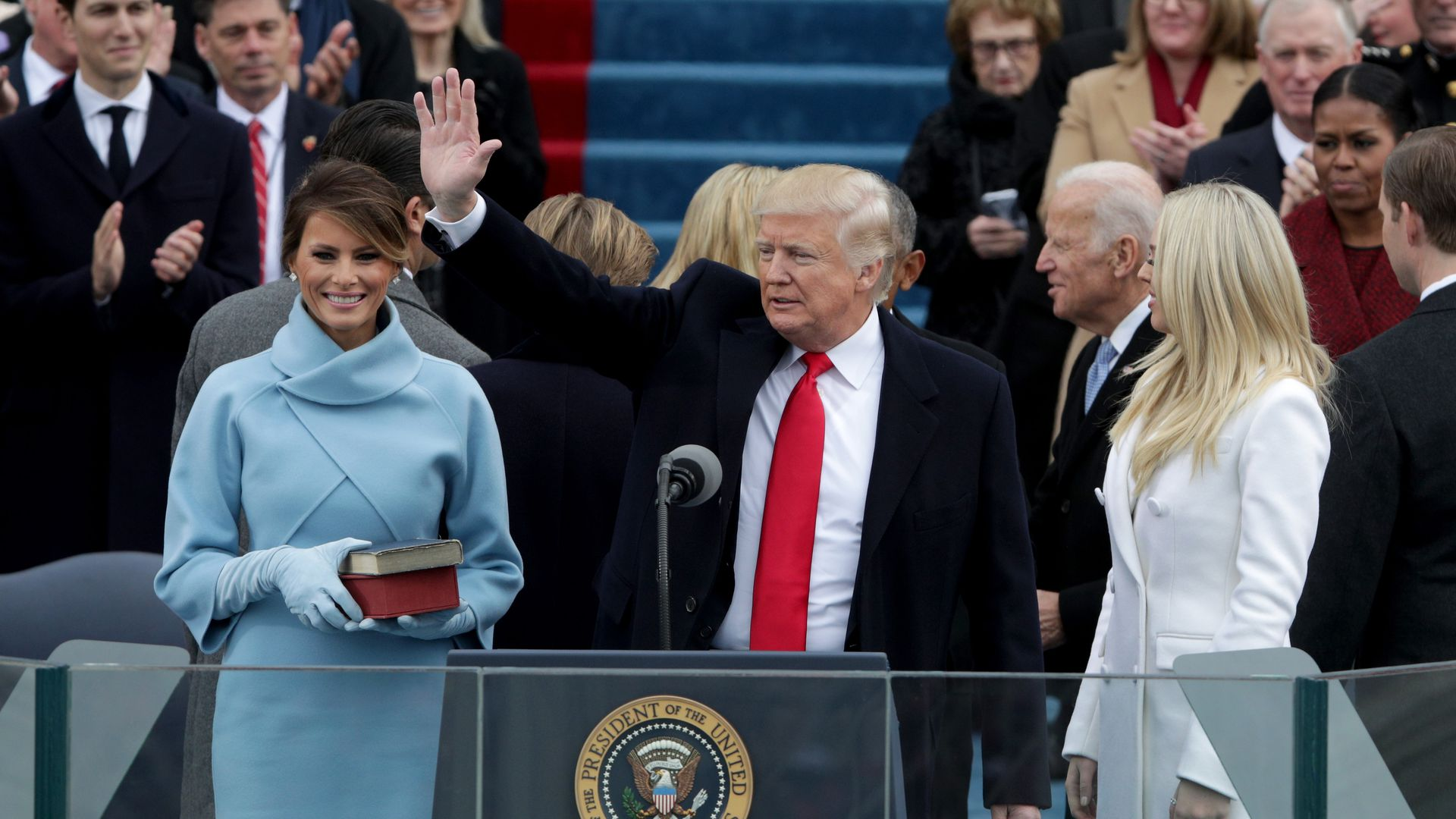 President Donald Trump at his inauguration in January 2017.