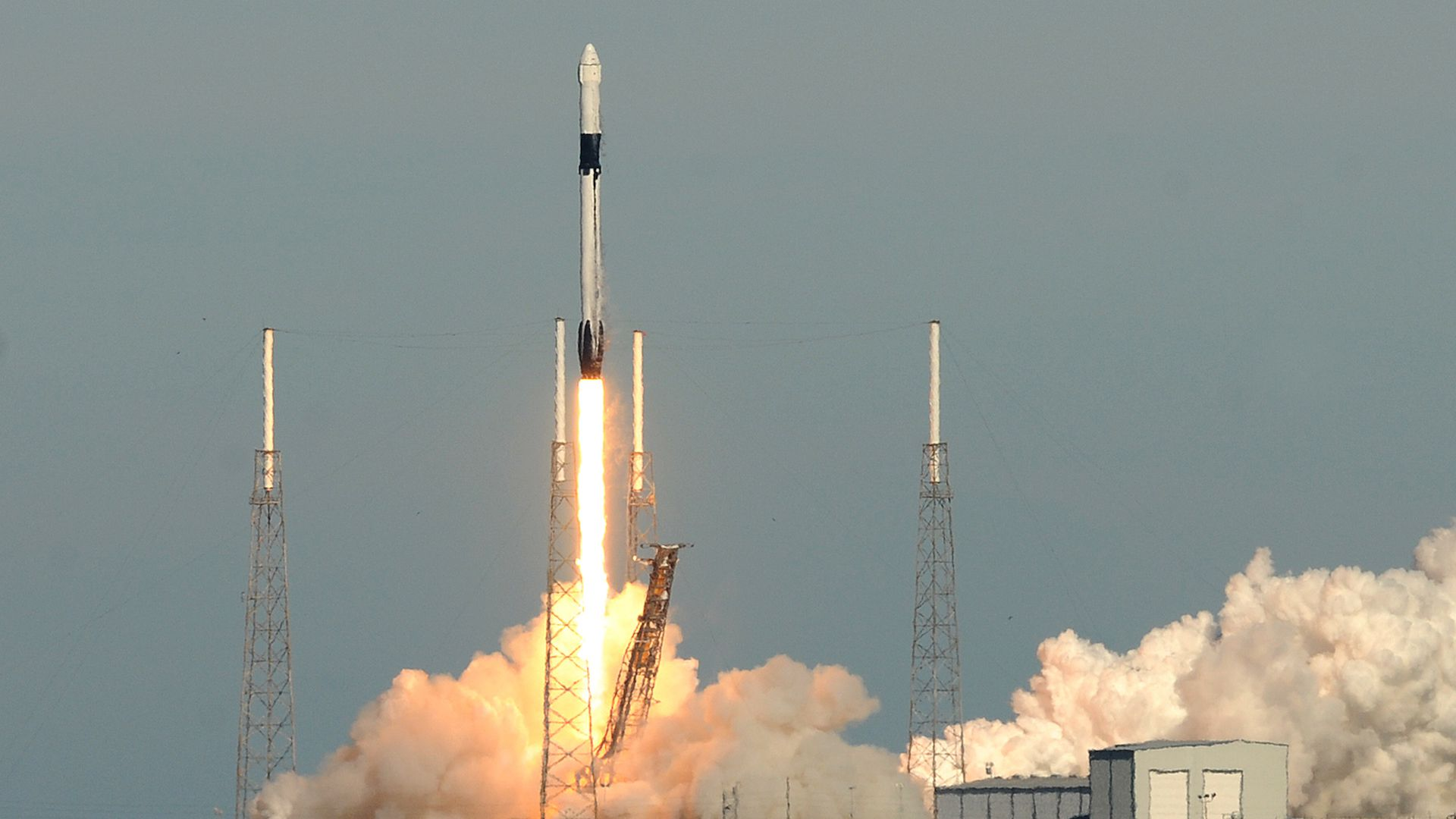 SpaceX rocket launch from Cape Canaveral, Florida.