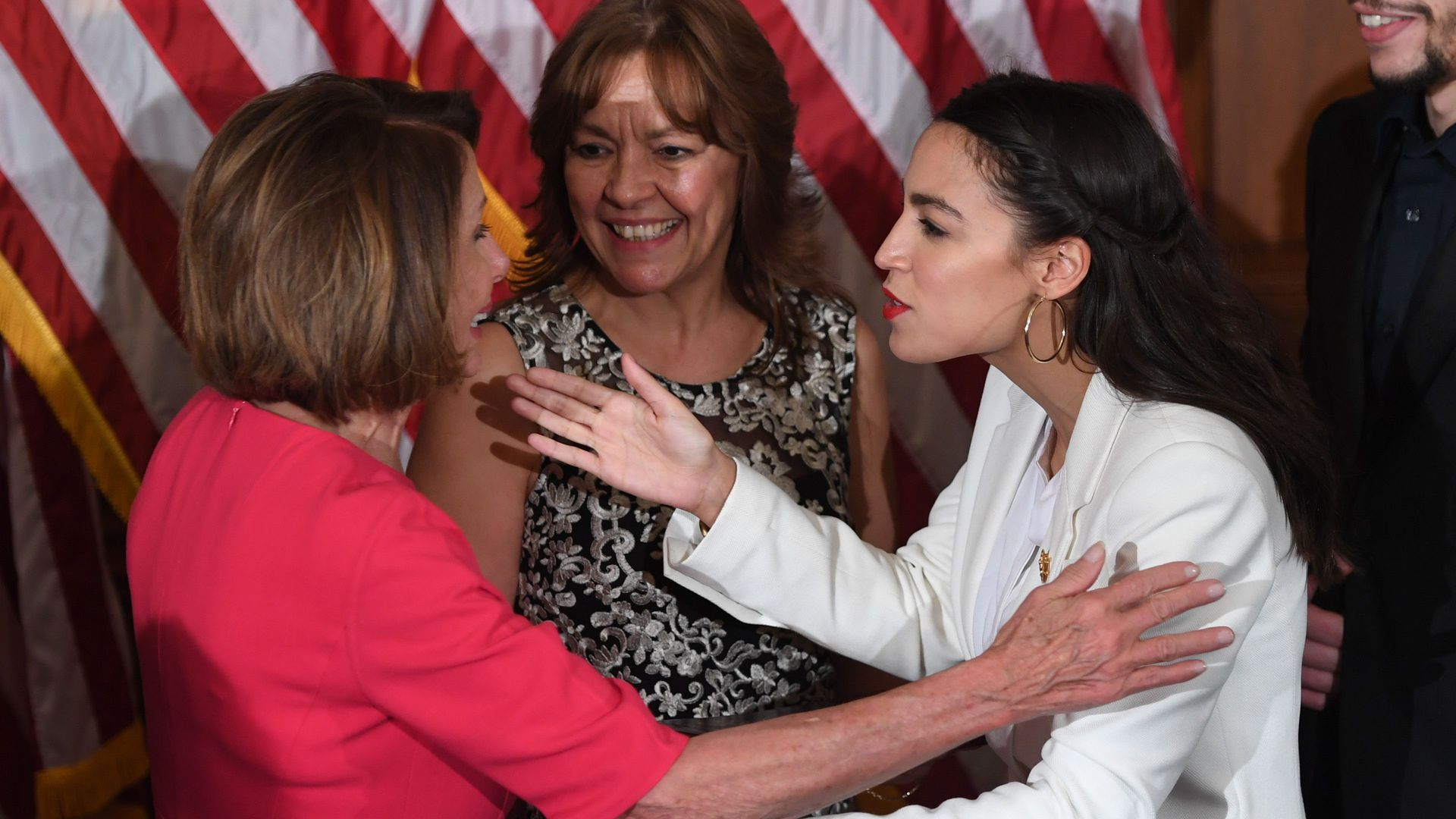 Pelosi with AOC