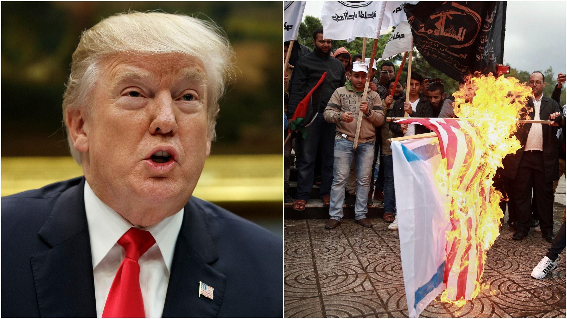 Trump recognizes Jerusalem as Israel's capital.