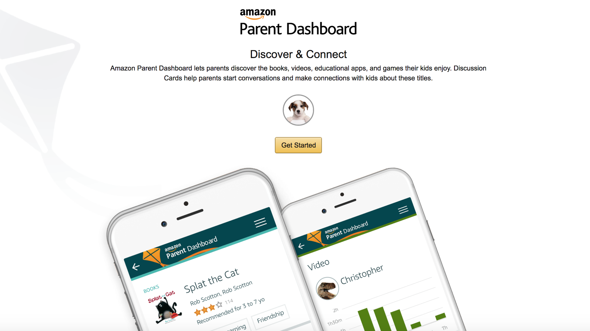 A screenshot of Amazon's new parental dashboard