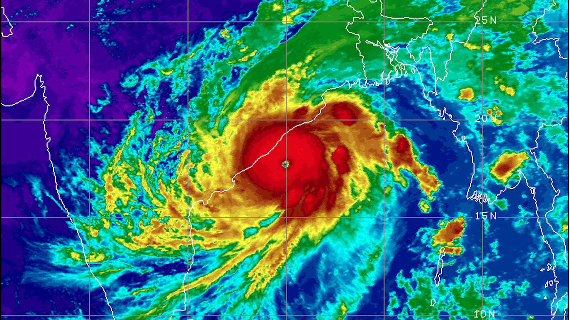 Satellite image of powerful Cyclone Fani.