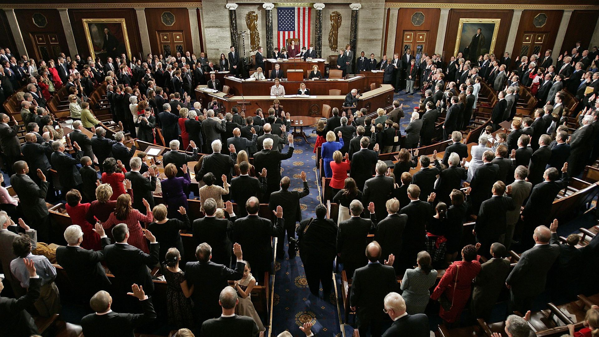 Members of Congress in the House Chamber