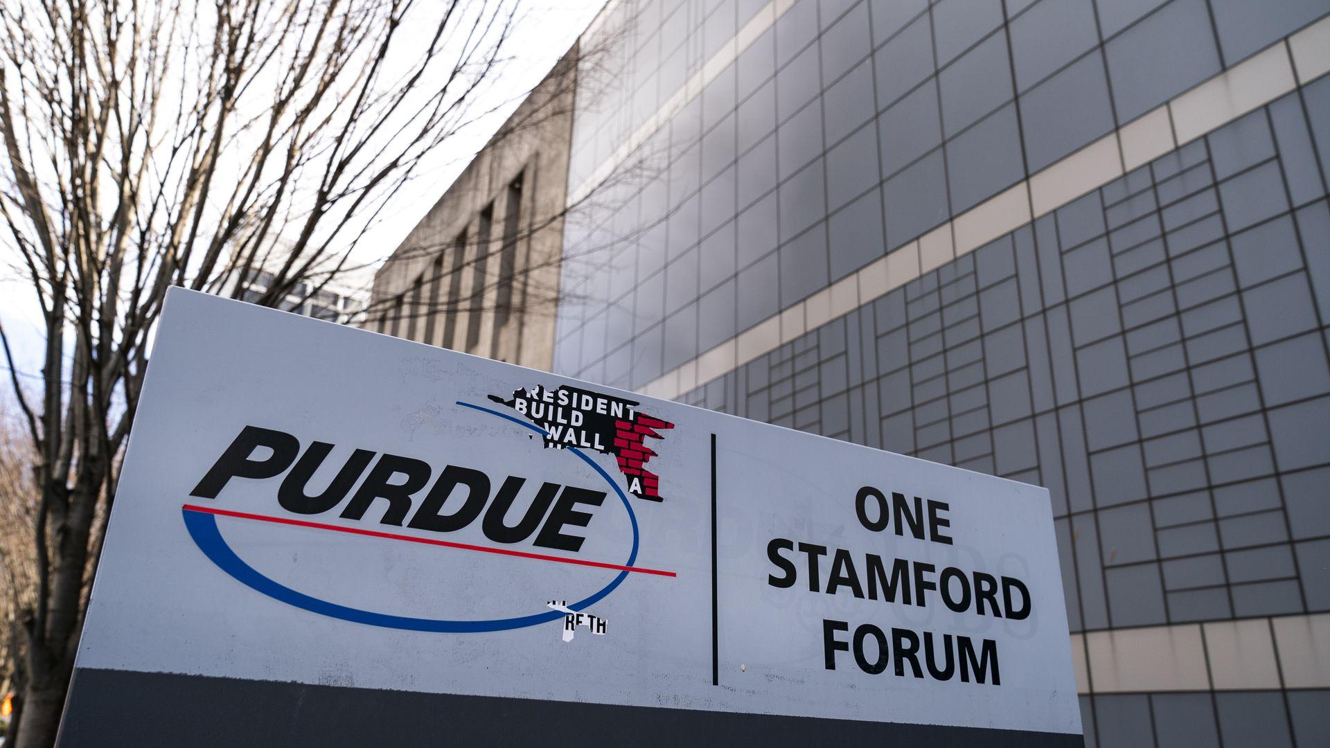 Purdue Pharma headquarters in Stamford, Connecticut