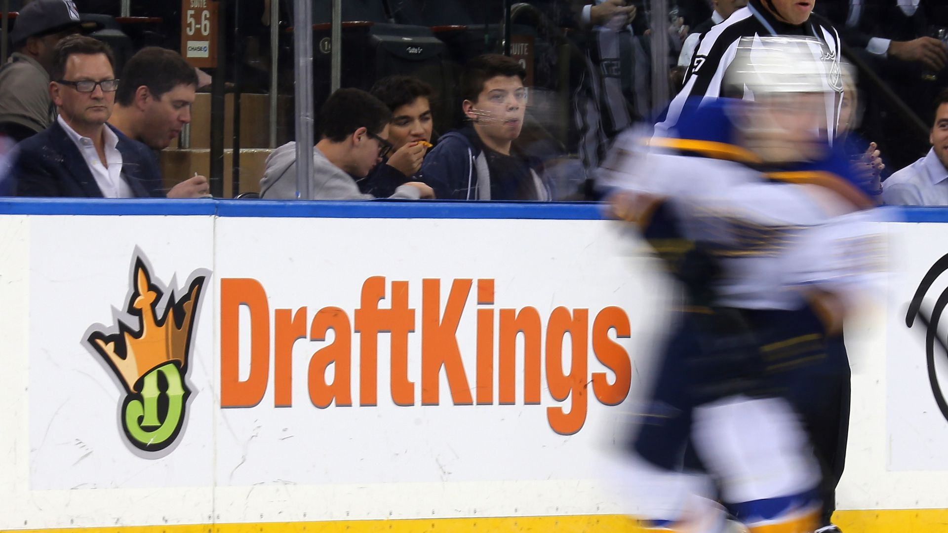 DraftKings logo in a hockey arena