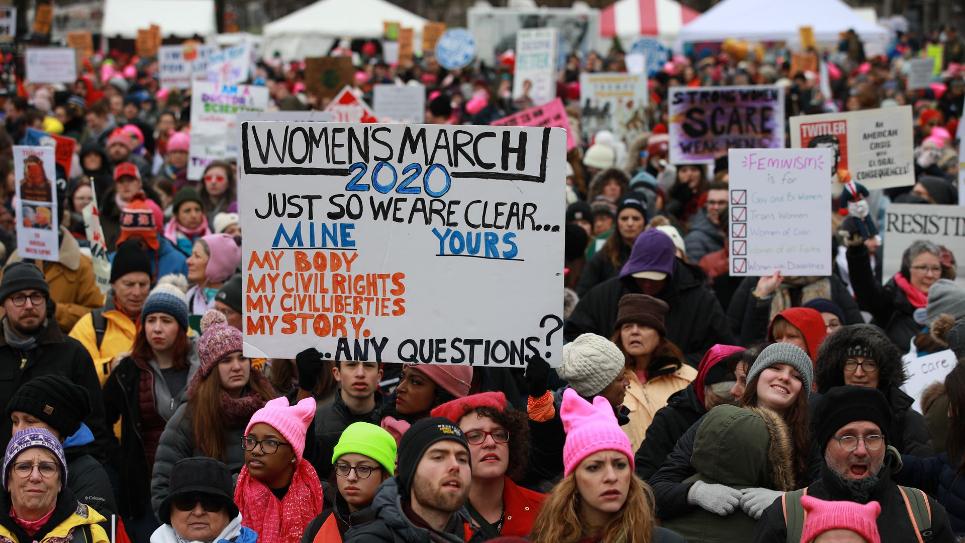 In photos: Women's March 2020 protests around the U.S.