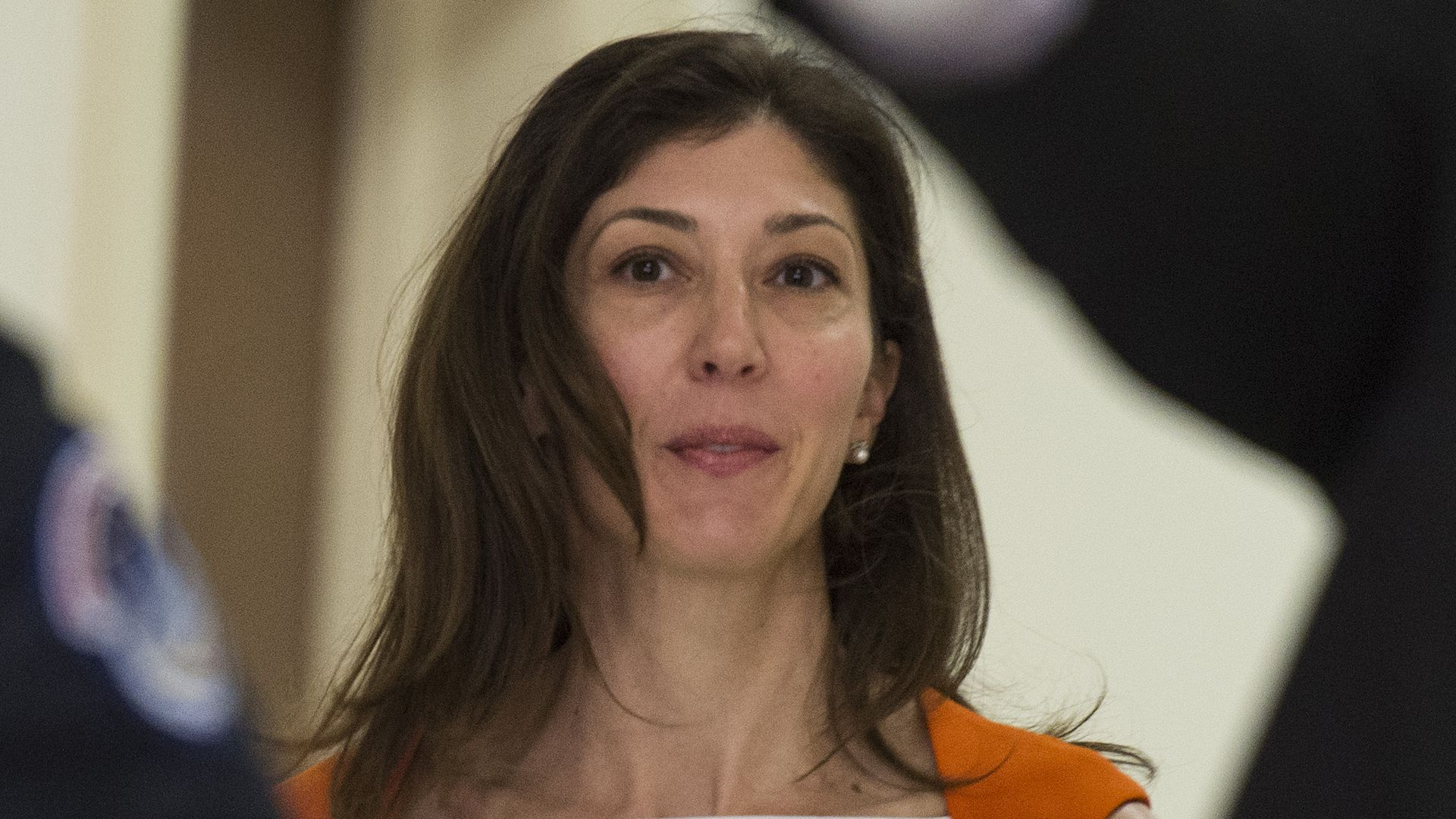 Lisa Page, former legal counsel to former FBI Director Andrew Mc Cabe, arrives on Capitol Hill July 16, 2018