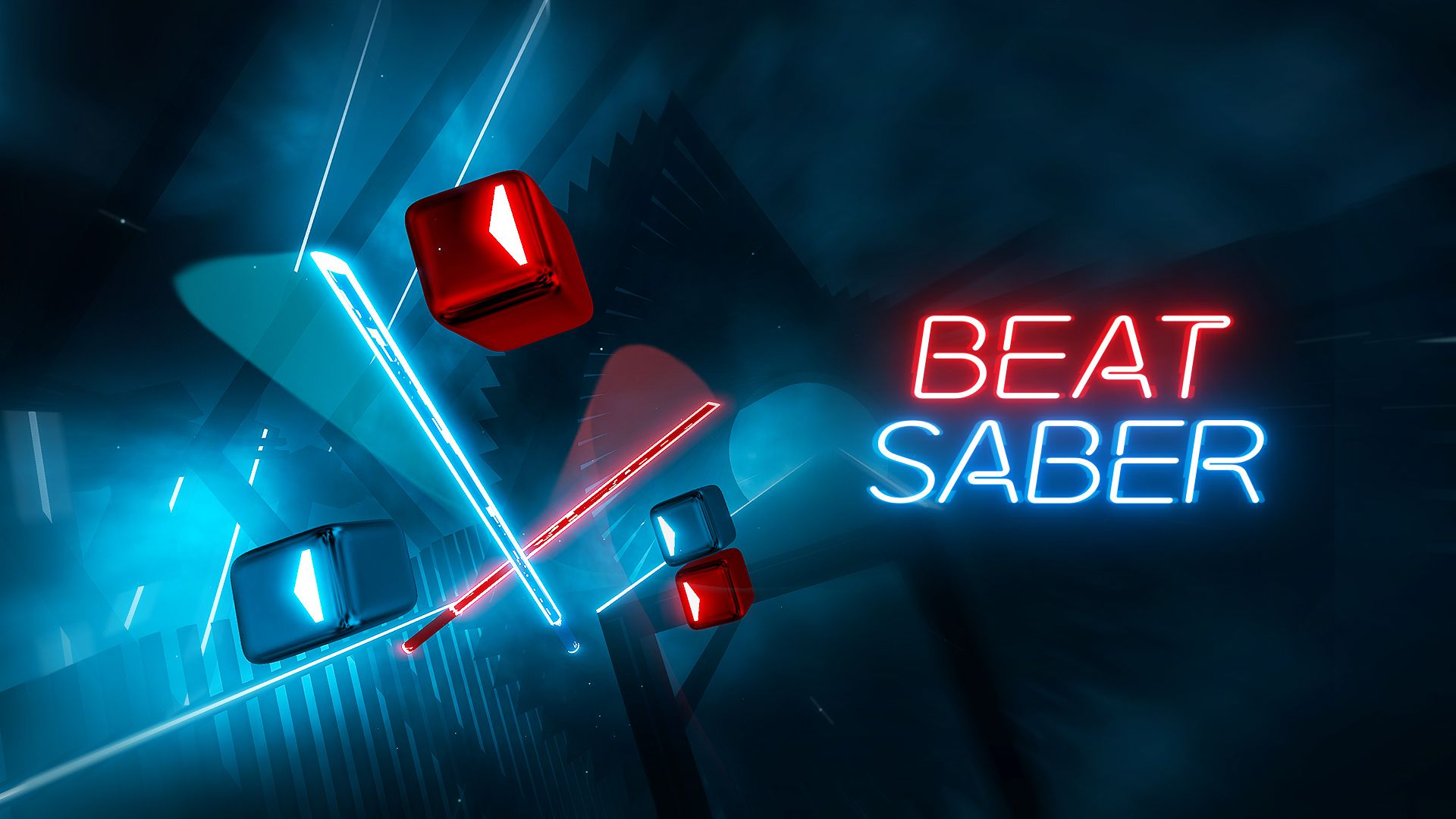 A promotional image for Beat Saber