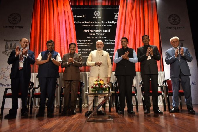 Indian Prime Minister Modi attended the opening of the Wadhwani Institute in Mumbai