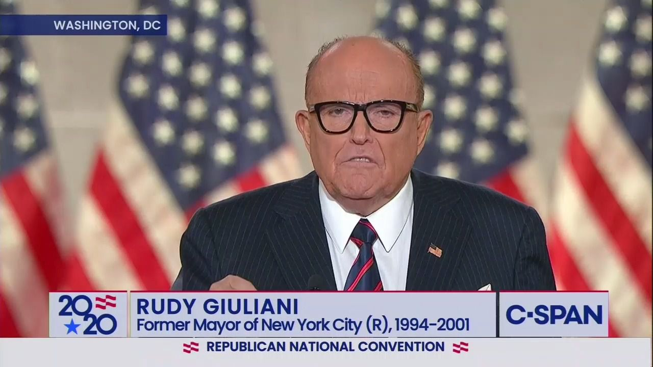 Rudy Giuliani rails against Black Lives Matter, Antifa and De Blasio in RNC speech thumbnail