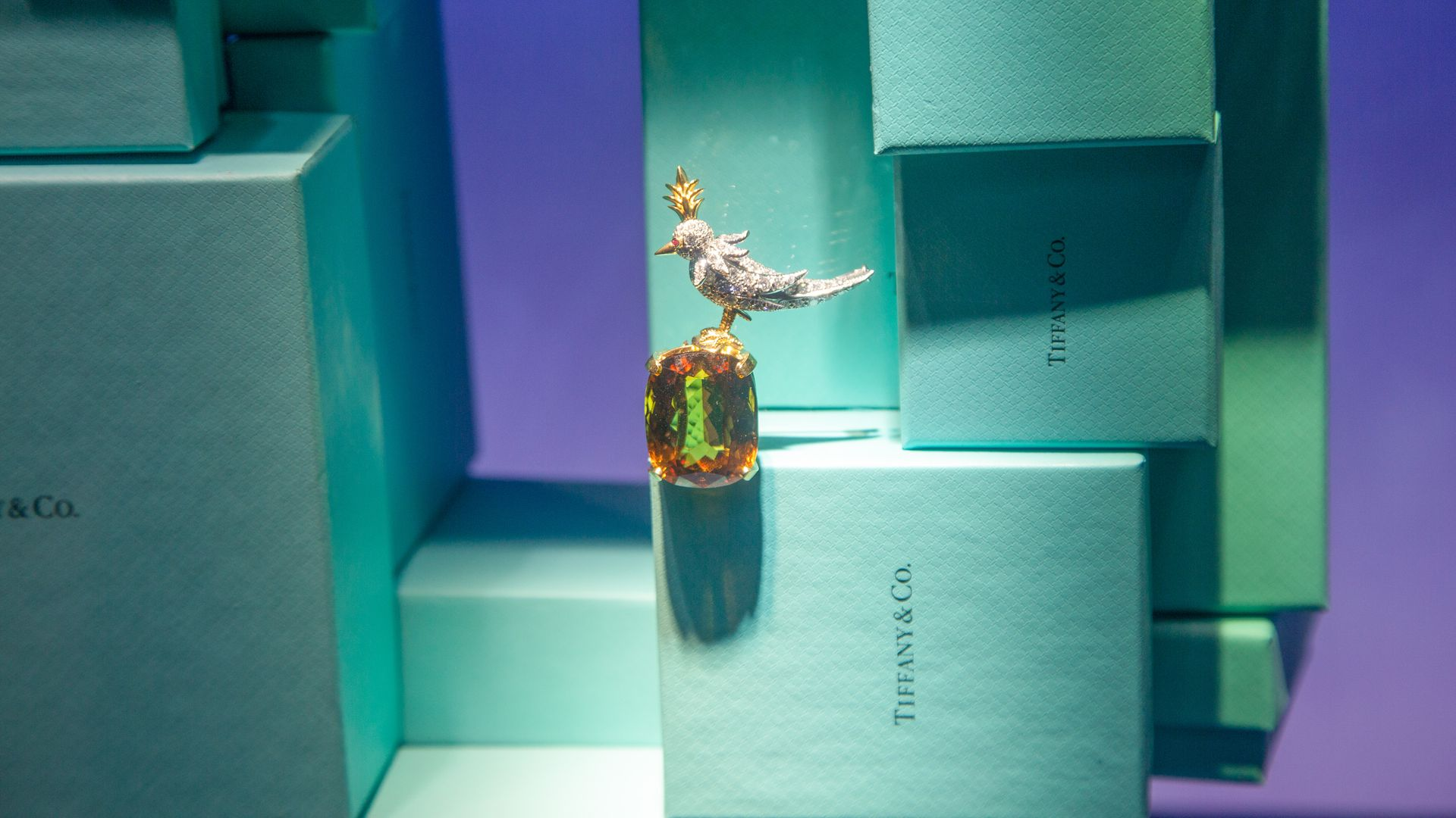 Tiffany & Co. boxes.