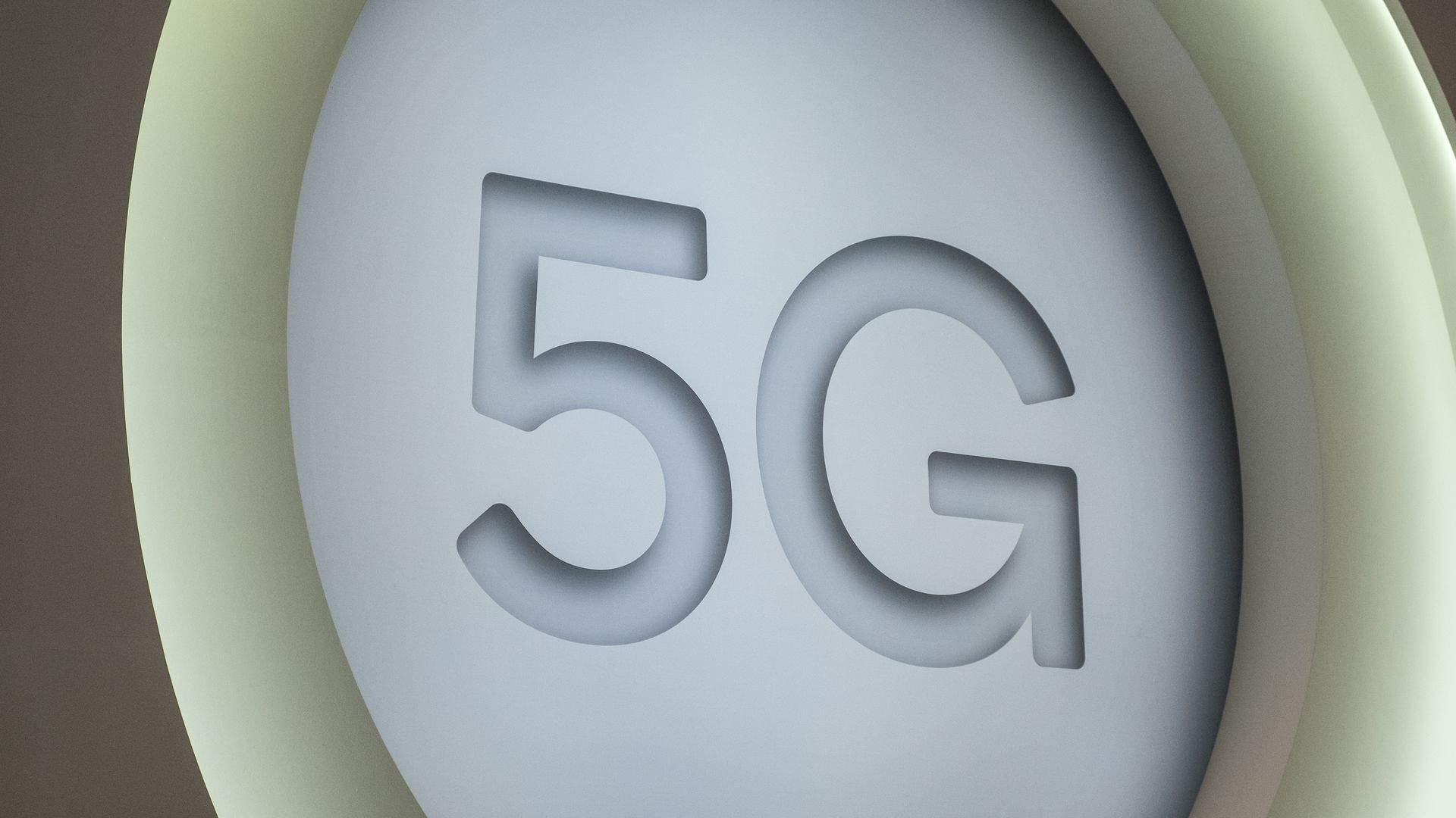 A large 5G logo