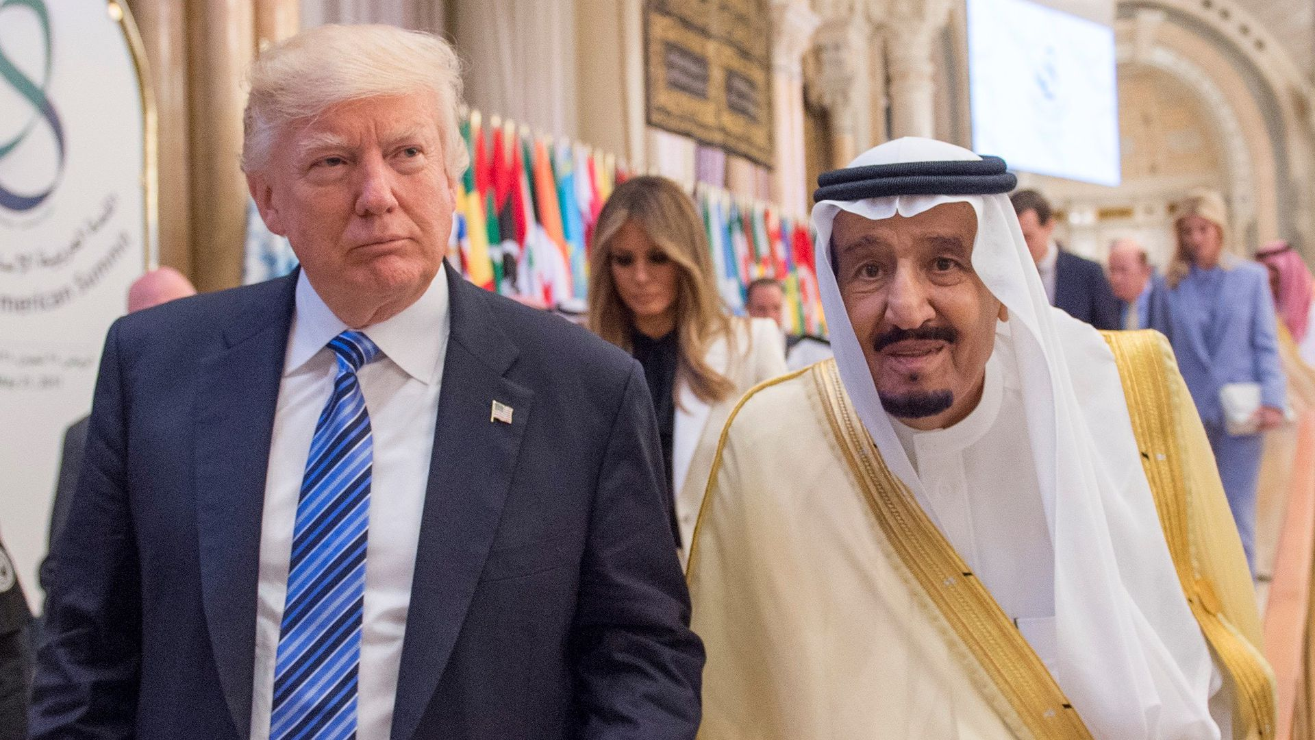 Donald Trump and Saudi Arabia King Salman.