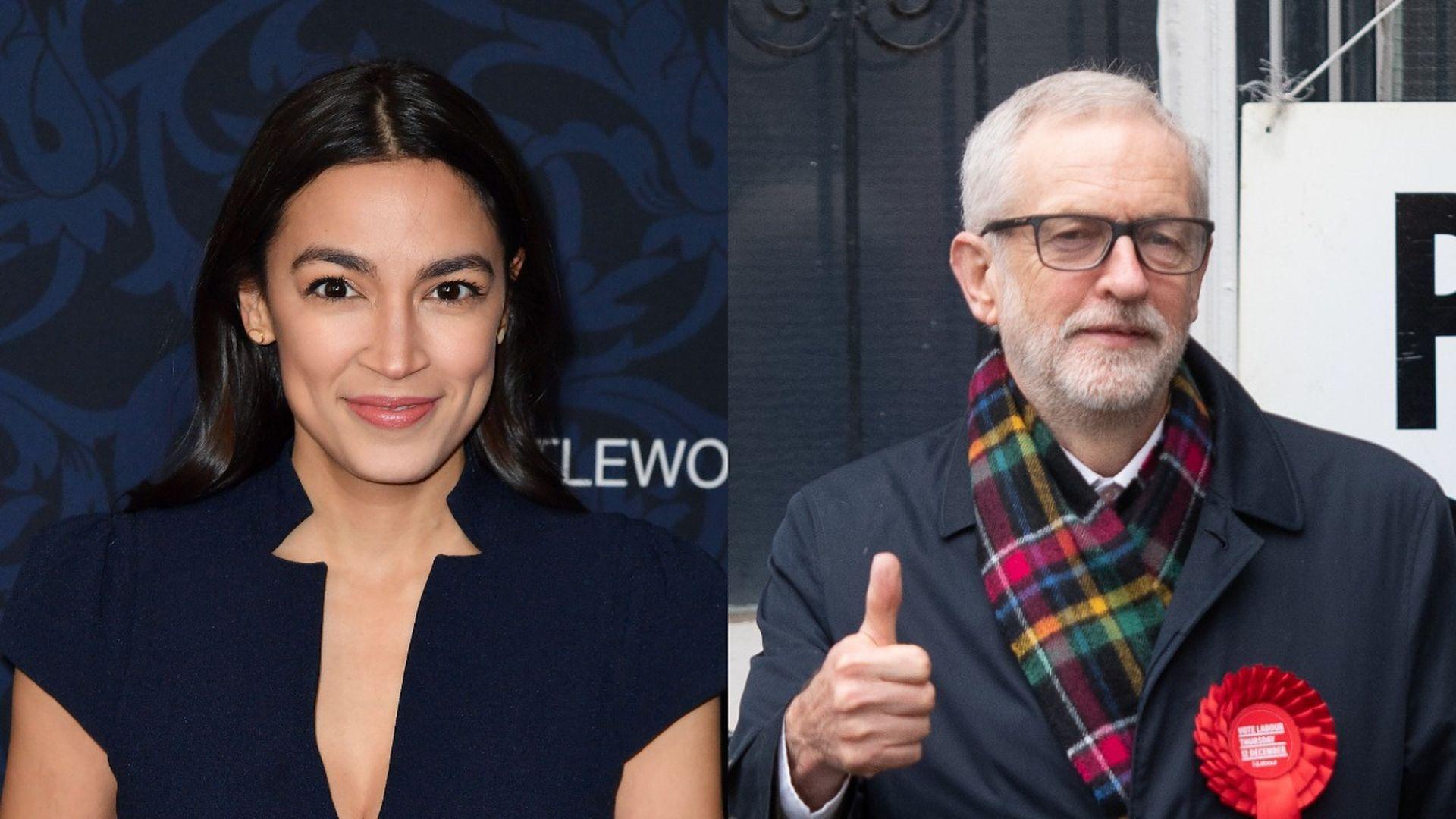 Alexandria Ocasio-Cortez urges U.K. voters to back Jeremy Corbyn's Labour Party