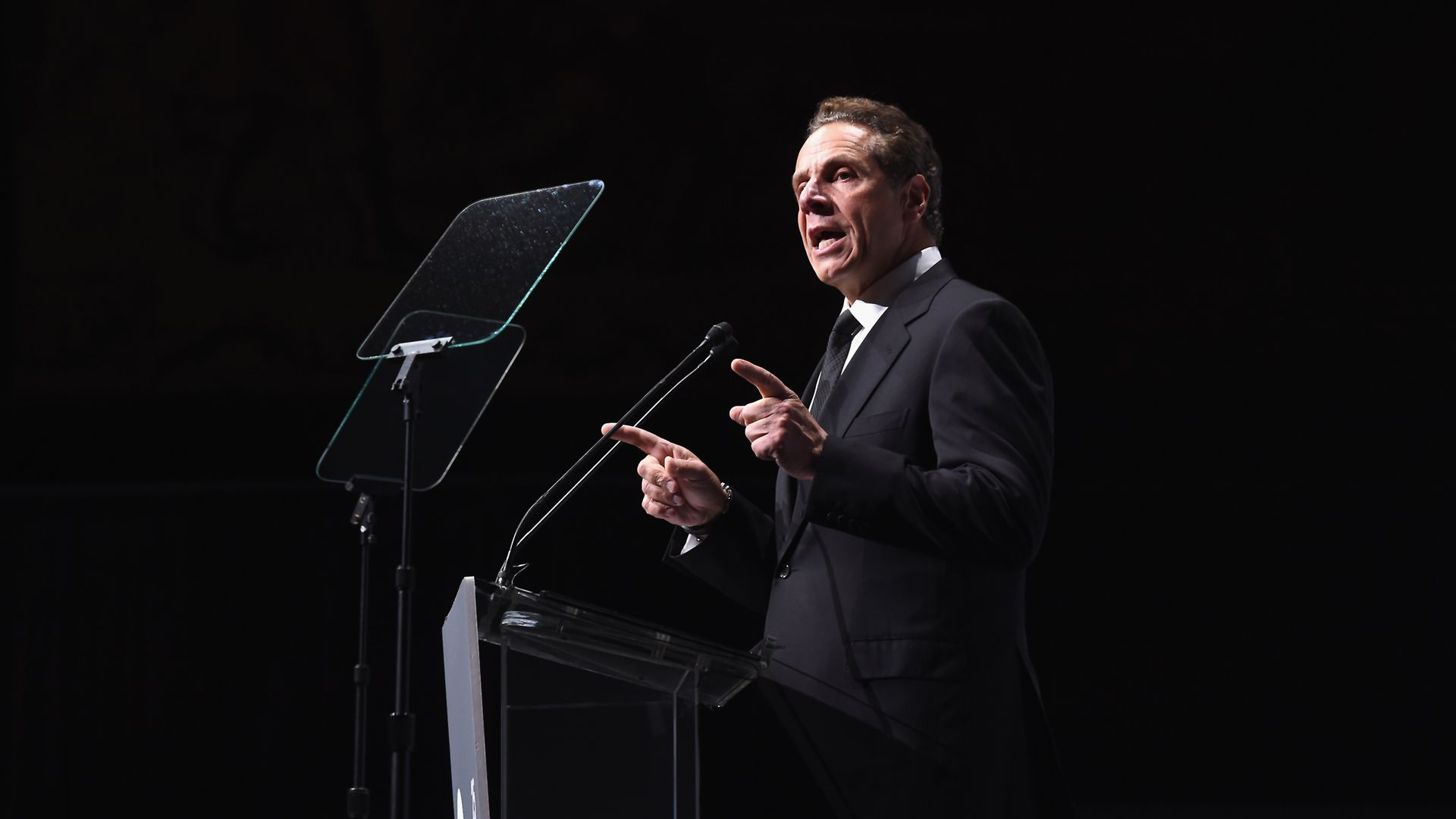 New York Gov. Andrew Cuomo speaking at a charity event.