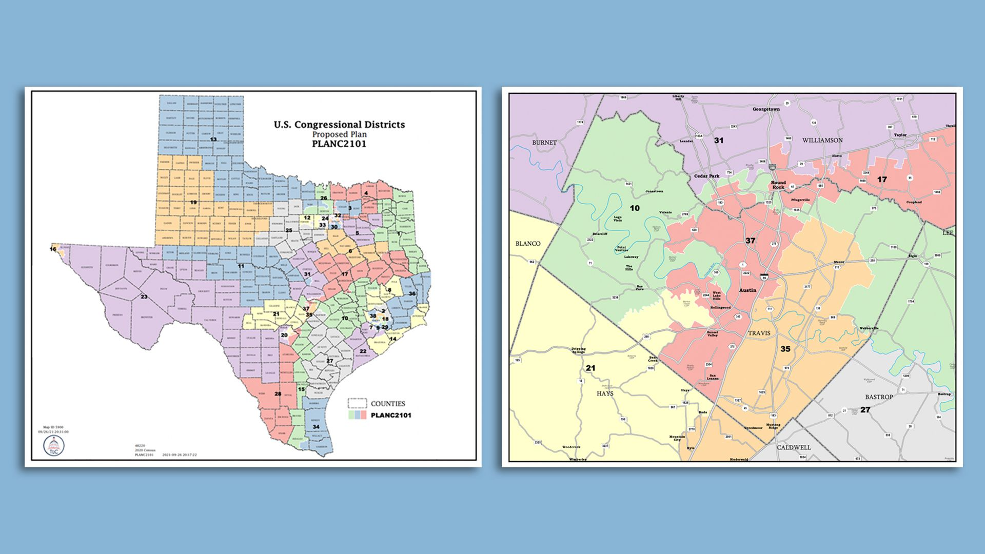 the proposed congressional maps for Texas