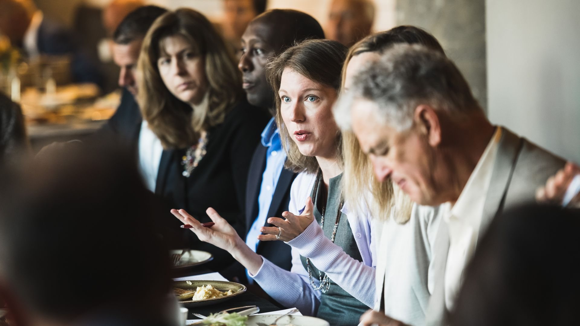 Axios' Kim Hart at the roundtable in Minneapolis.