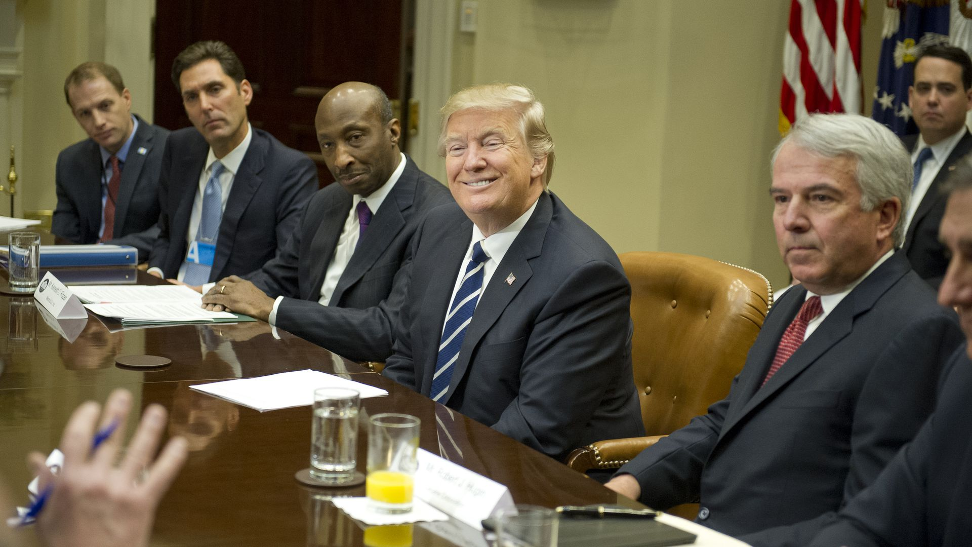 President Trump with representatives of PhRMA
