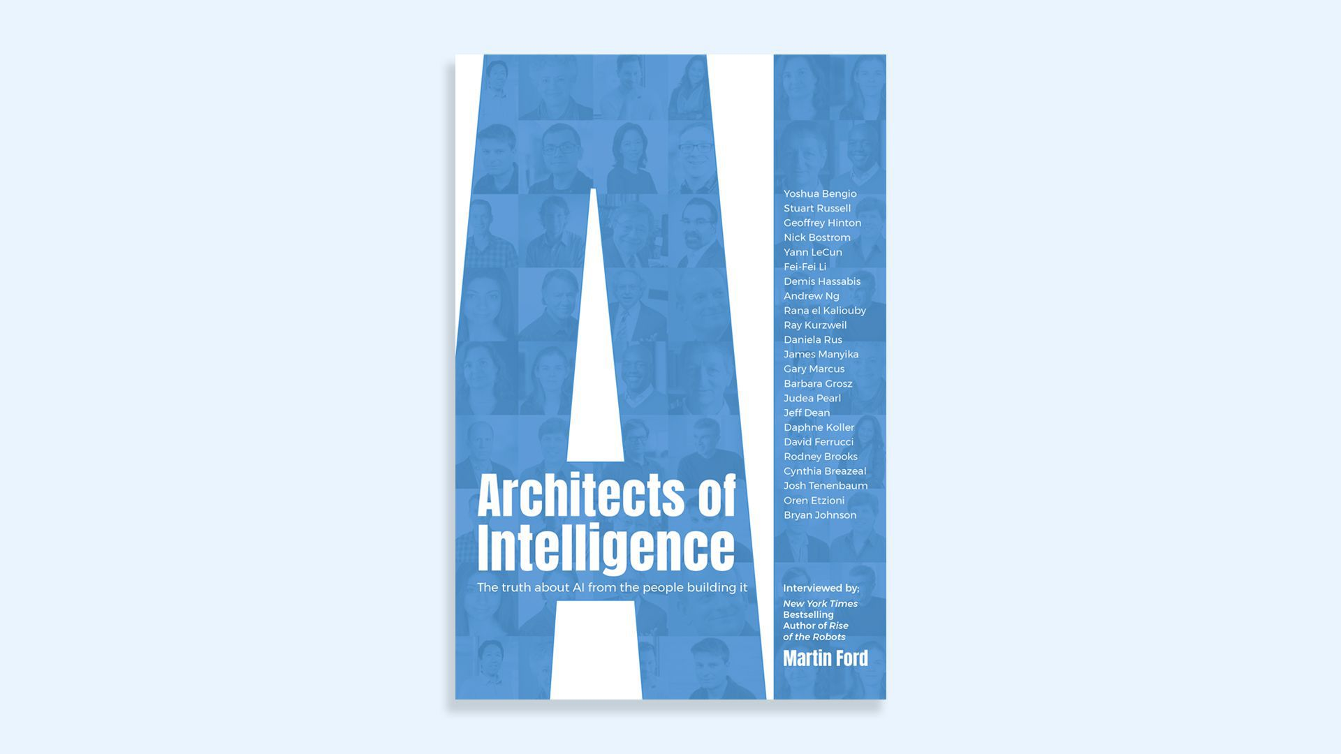 """The cover of Martin Ford's book, """"Architects of Intelligence"""""""