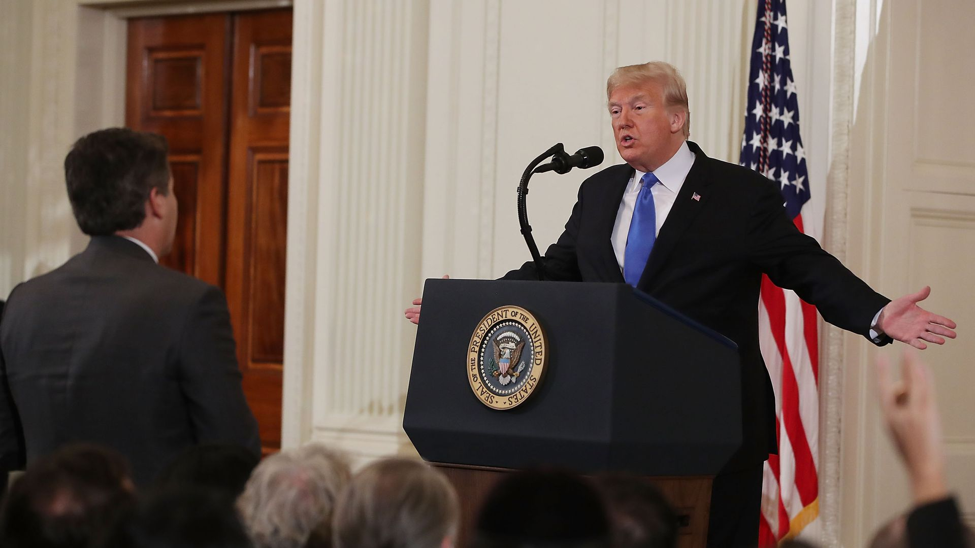 President Trump spars with CNN's Jim Acosta during a press conference last week