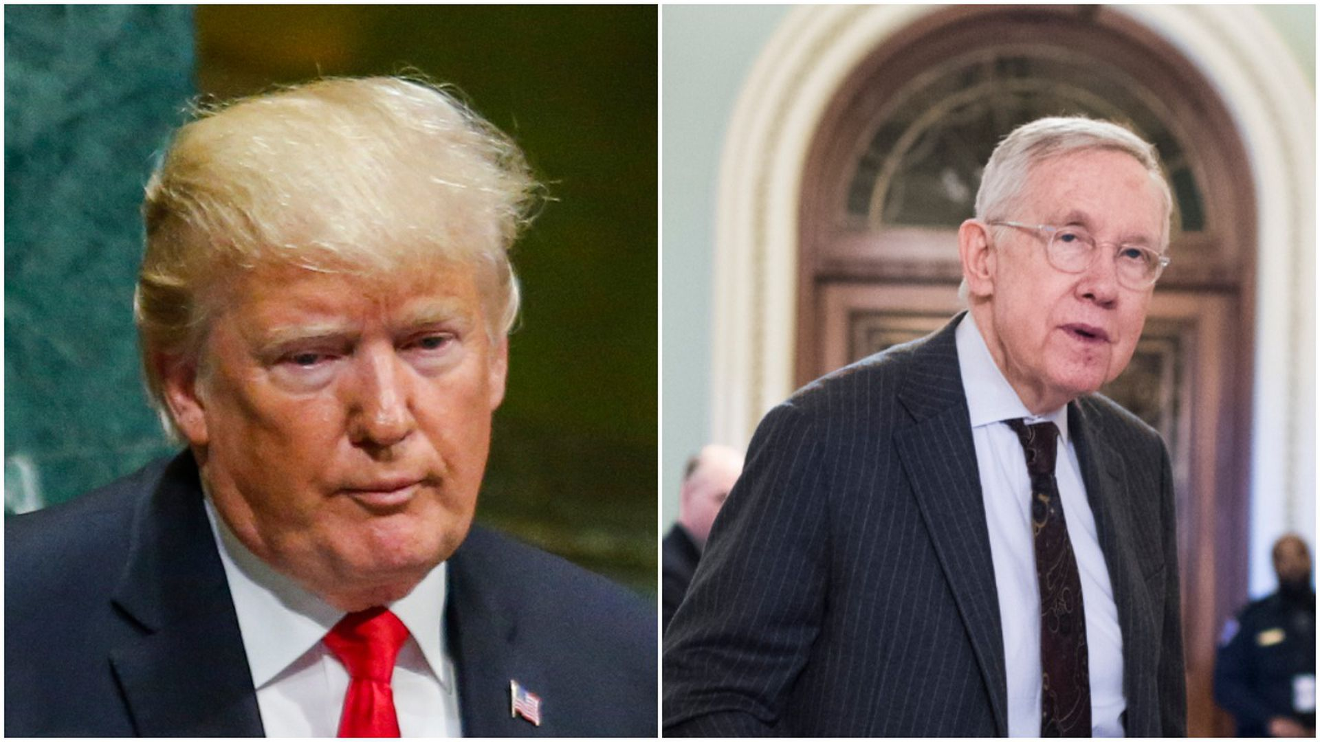 Cropped photo with Donald Trump and Harry reid
