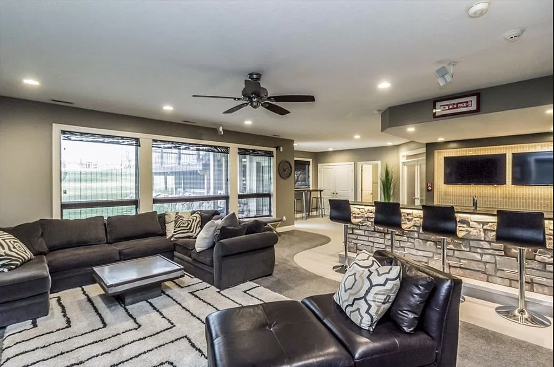The lower level of a Pleasant Hill home up for sale.