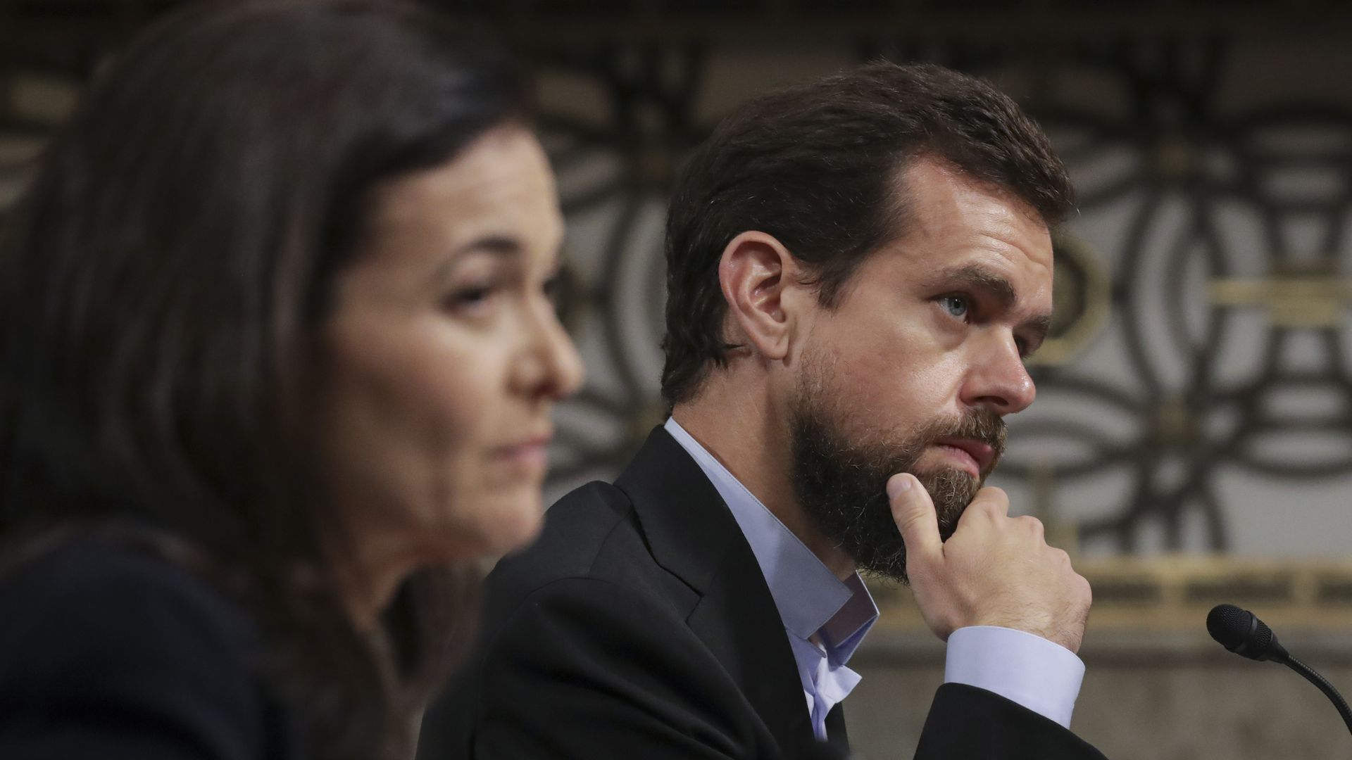 Facebook COO Sheryl Sandberg and Twitter CEO Jack Dorsey