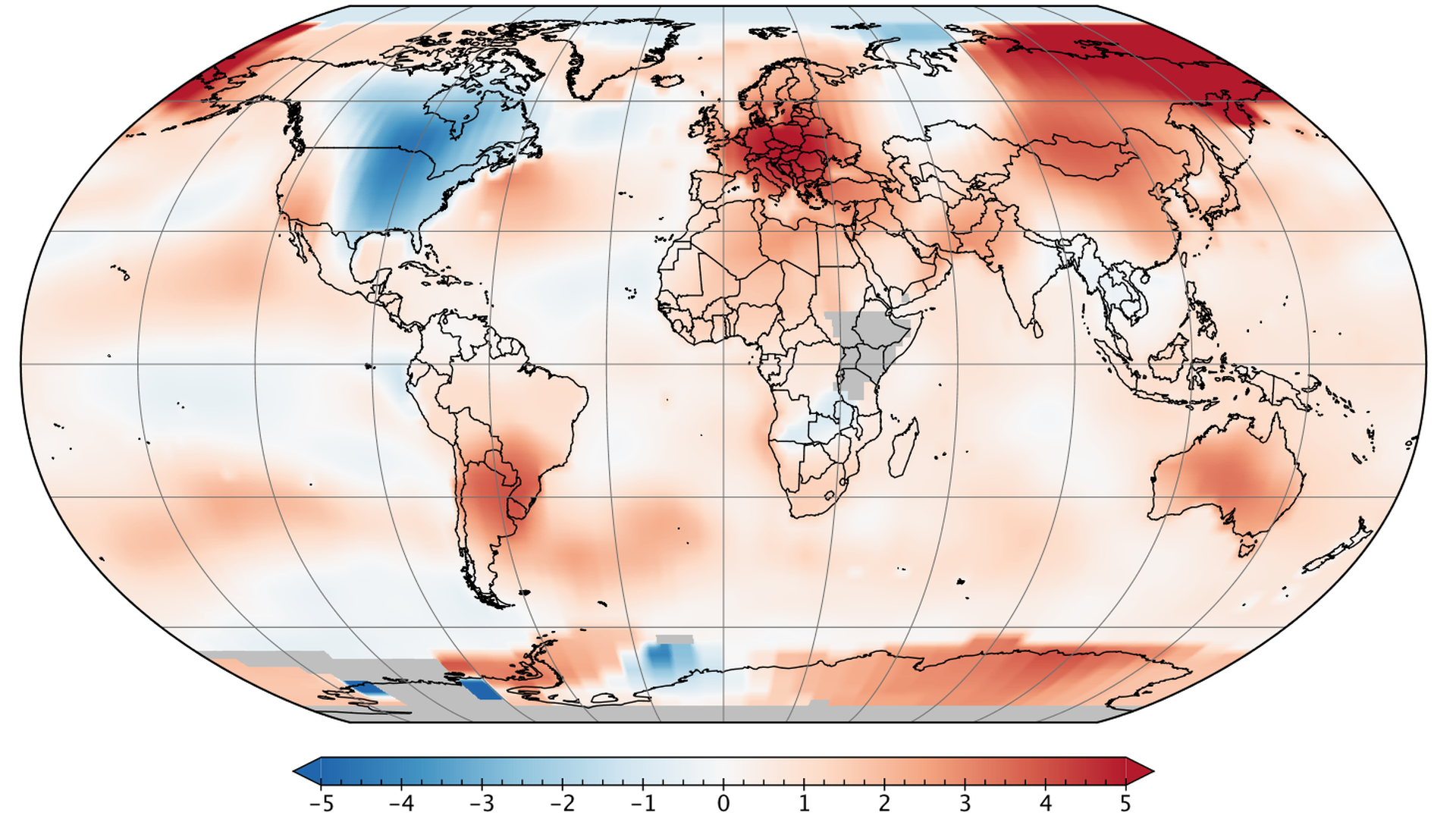 Global average temperature anomalies for April 2018 made it the third-warmest such month on record.